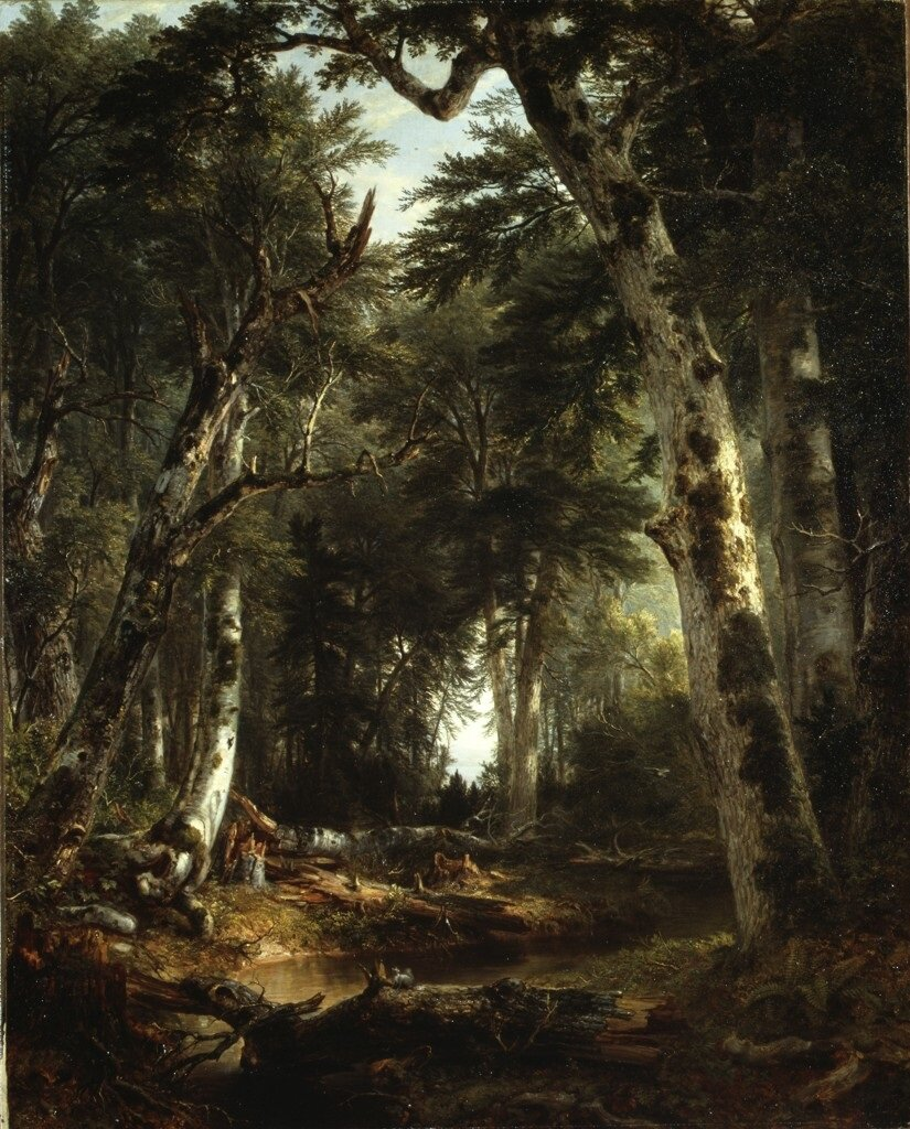 © Asher B Durand. Into the Woods. 1855.