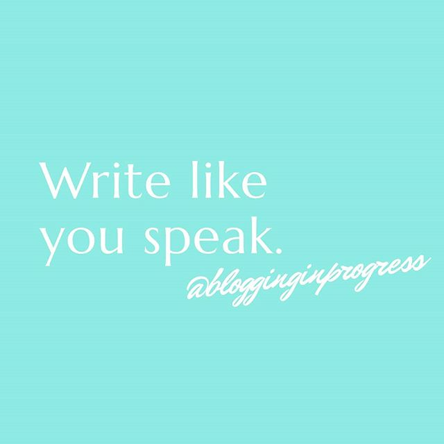 When you're writing, it's so easy to get caught up in trying to make every sentence sound 'perfect.' But ironically, it seems to have the opposite effect, making it sound more awkward and stilted than a car GPS! . The solution? Write like you speak! The more you can make your voice sound like it naturally would in conversation, the more it's going to flow effortlessly. And on the flip side, if you read it back and it's sounding strange, it's probably time to revise. . If you're more of a talker than a writer, I highly recommend recording yourself speaking your thoughts. Then, you can use a transcribing app like Rev to get it down on paper, before polishing it — or sending it to a copywriter or editor to do it for you!