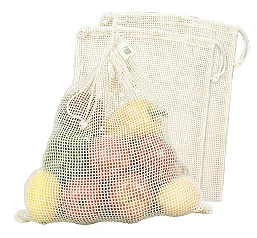 Ecobags Organic Net Produce Bags - I use these mostly for fruits and vegetables since the net isn't great for bulk goods. Ecobags are awesome because they have the tare weight on the tags!