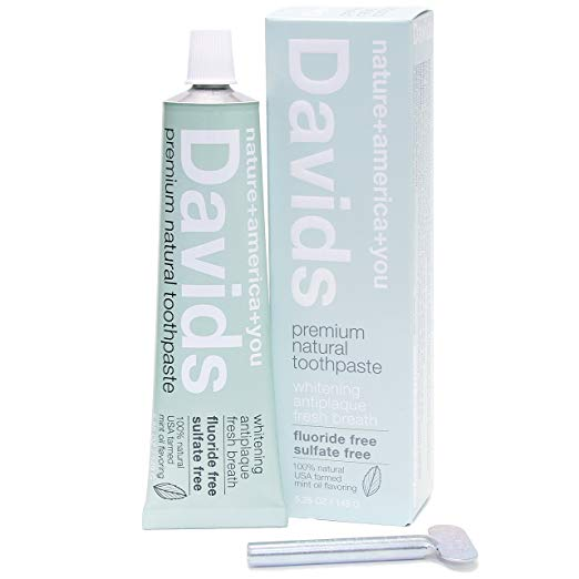 David's Premium Natural Toothpaste - One switch I didn't have to make. Been using David's Toothpaste for a while now. Recyclable Metal Tube.
