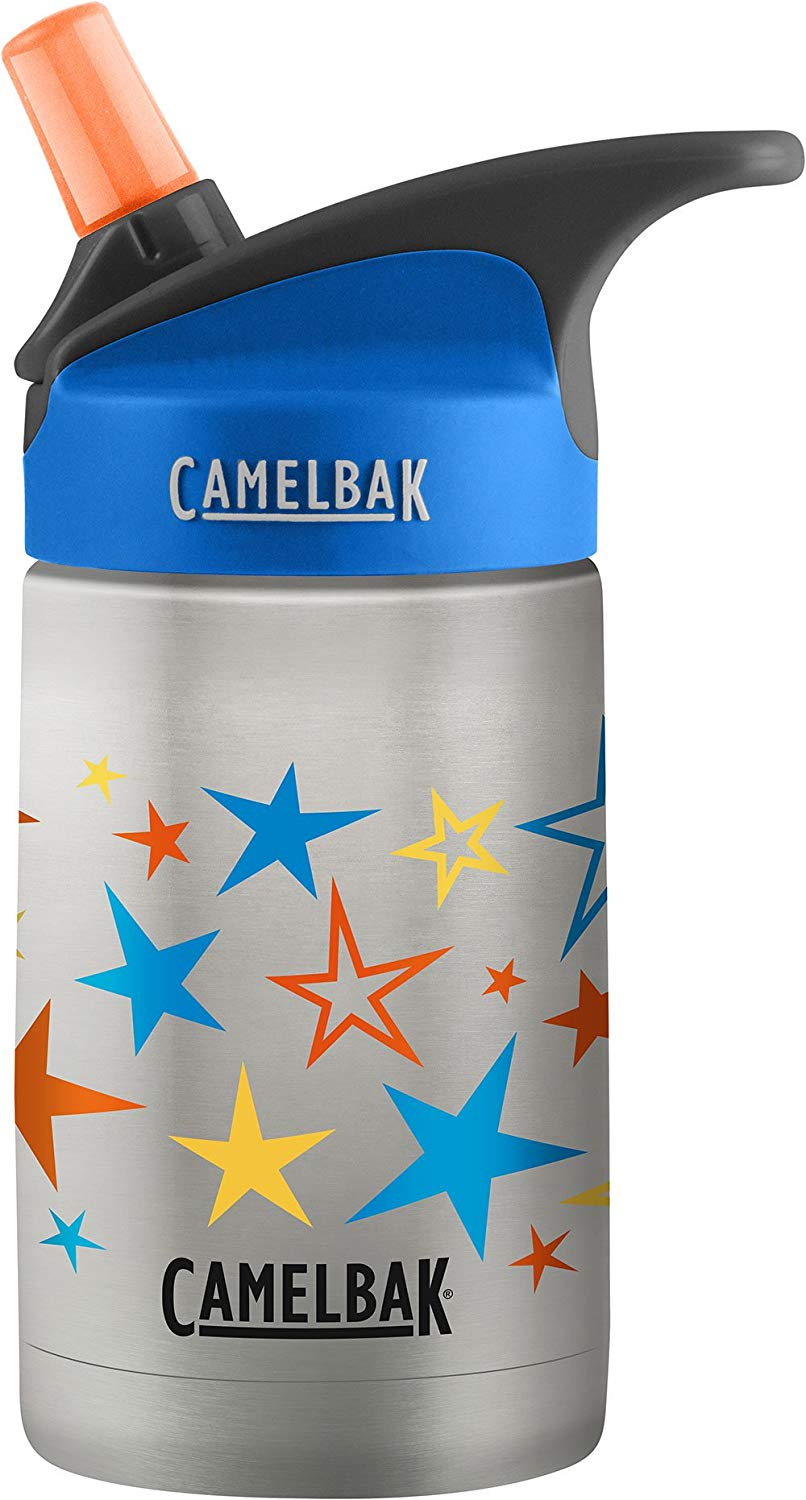 Camelbak Kids - We prefer this bottle for our 1 and 2 year old since it has a straw, making it easier to manage for them.
