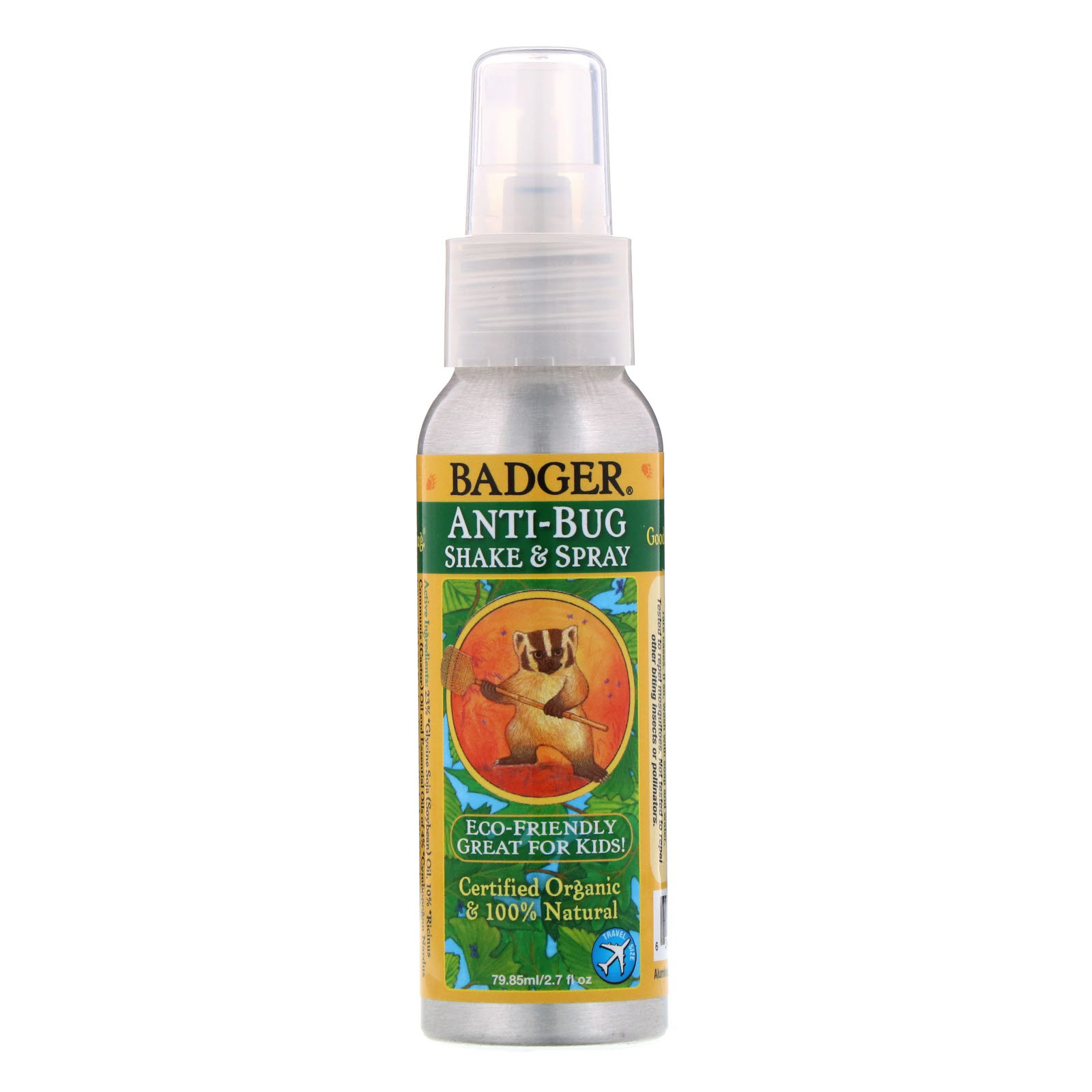 Anti-Bug Spray - This bug spray has been around for years for a reason. It is safe, effective and encased in an aluminum can that can be recycled.