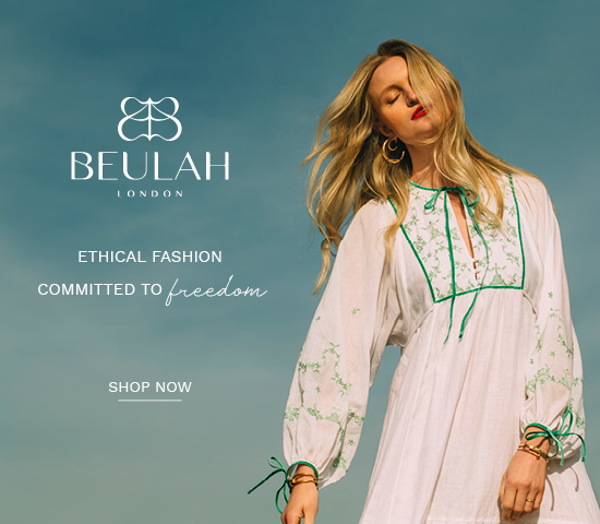 Beulah London - Each and every product purchased supports and empowers society's most vulnerable women through the provision of employment in order to help break the cycle of poverty. Uses mostly all natural materials.