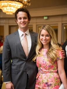 Pictured here with my husband, David at a luncheon in 2014. This dress was my great-grandmother's and is one of my all-time favorite pieces.