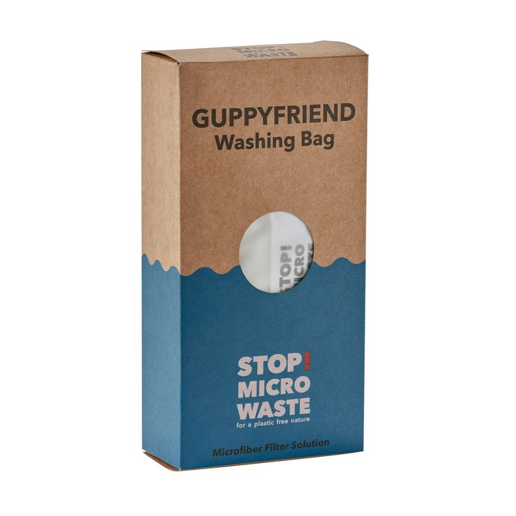 GUPPYFRIEND Washing Bag - Protects synthetic garments and reduces the amount of microfibers that may enter rivers and oceans from washing. After washing garments in GUPPYFRIEND, remove the microfibers from the bag and throw them away in the trash.