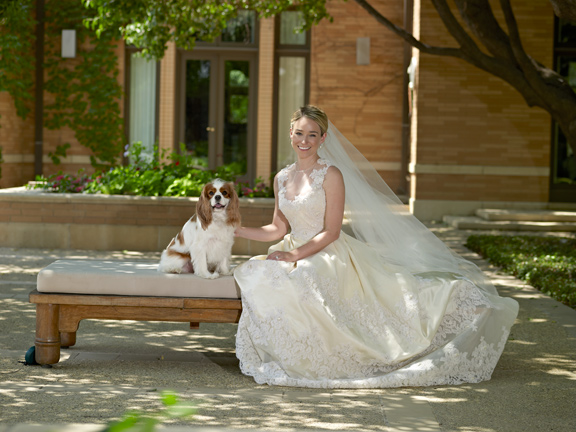 I had to have Max in one of my bridal portrait shots. It is actually the only one of them I have framed in our house.