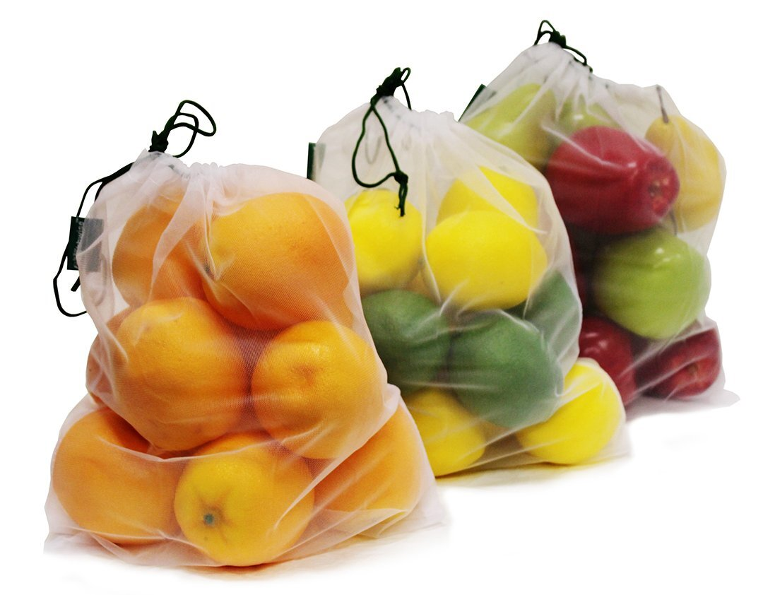 Reusable Mesh Produce Bags - Love these because they can just be rinsed off in the sink. They are perfect for lettuce, broccoli and anything that can be a little damp.