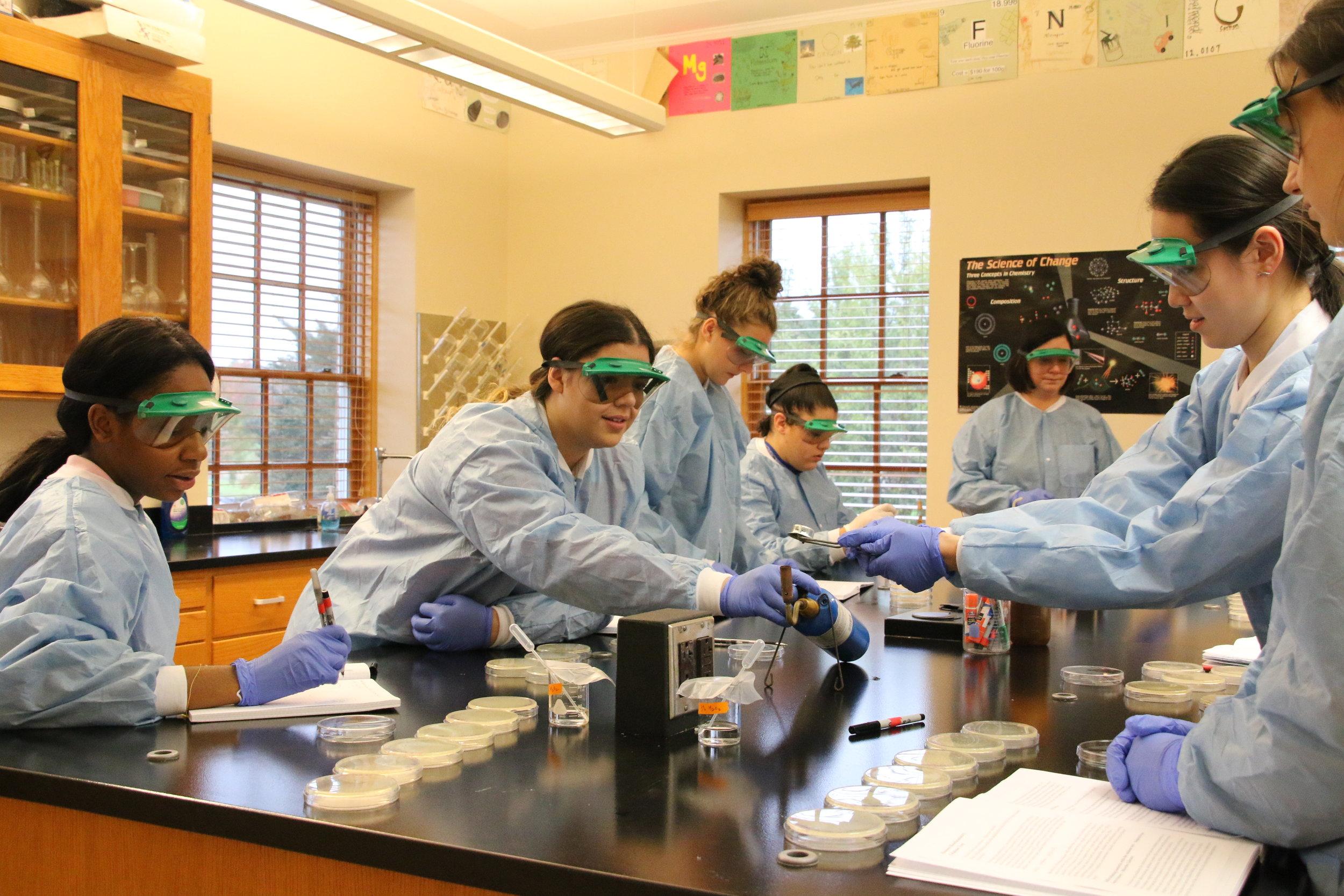 Ethel Walker Biochemistry Class.JPG
