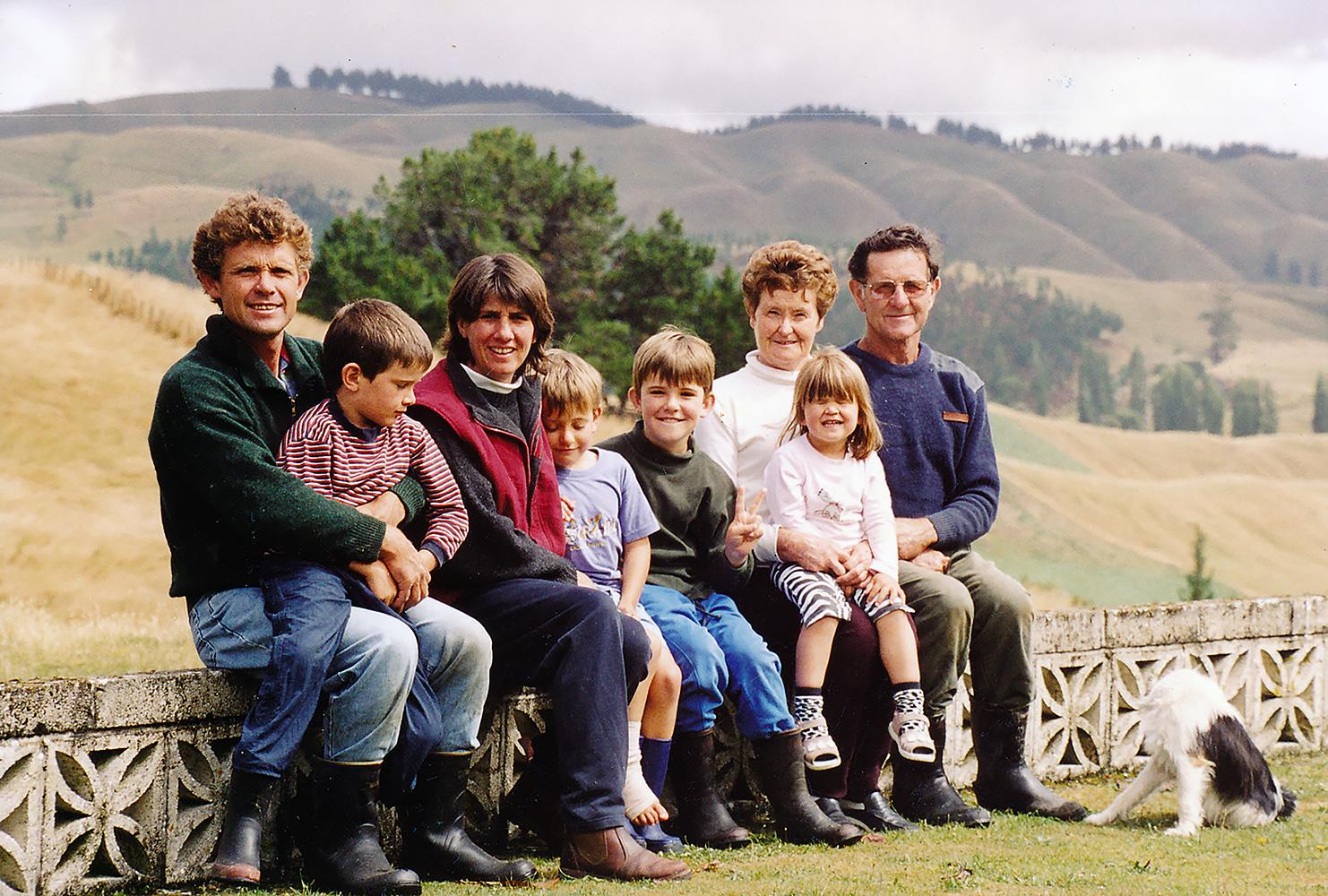 Chris, Glen, Jennifer, Gerard, Hugh, Annette, Allie, Fred Chesterman and Kenny (dog), - circa 2004.