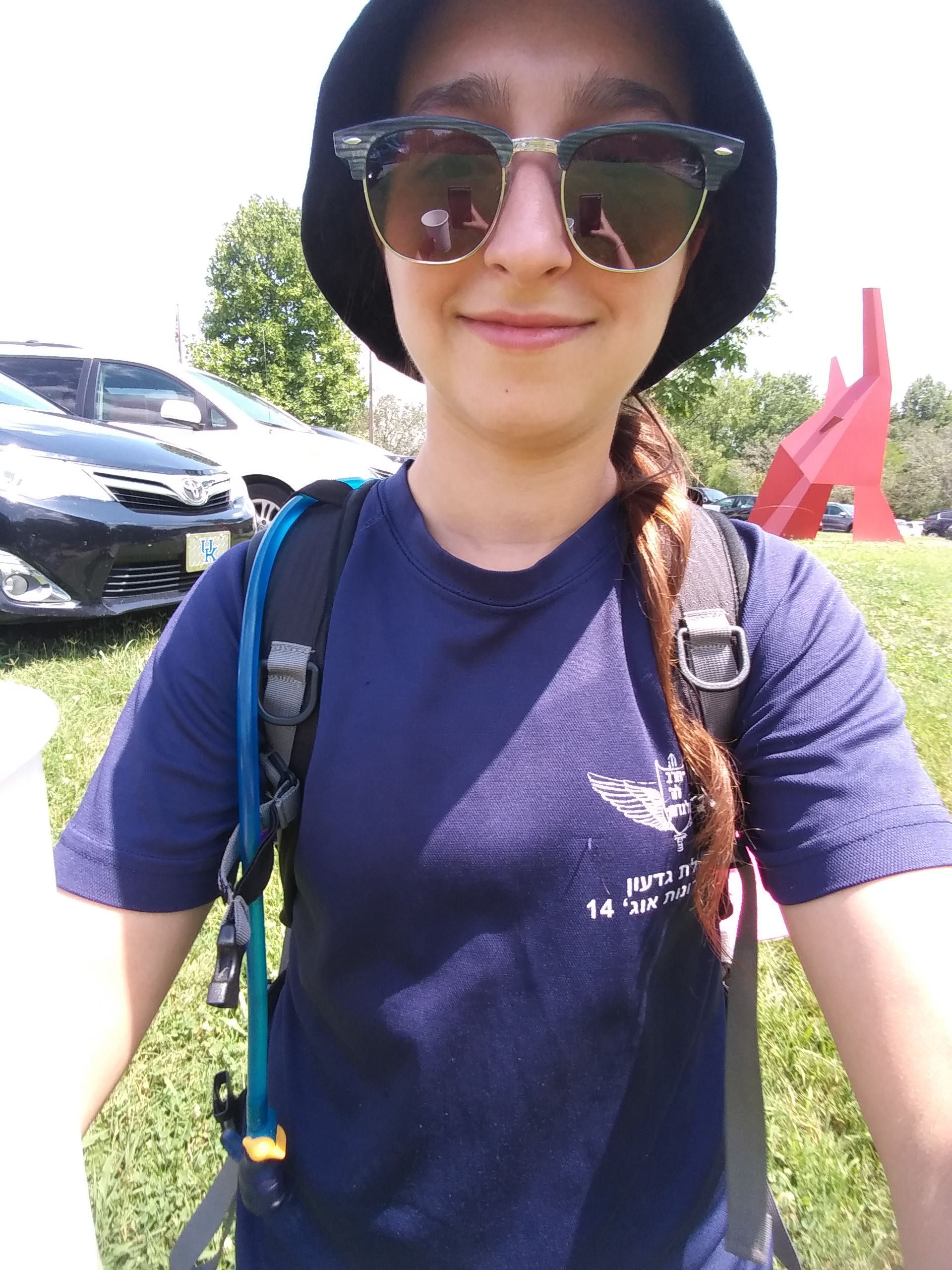 As a camp counselor last summer, I had a great excuse to use my small pack in civilization  (I was actually taking a picture of the reflection of coffee in my sunnies lol)
