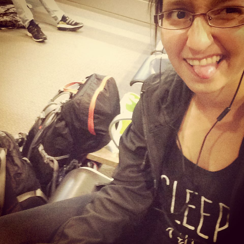 On my way to Barcelona for my first solo trip, featuring TWO backpacks back when I was a notorious over-packer  Three years later, 13 kg sounds like a pack for 6 months!