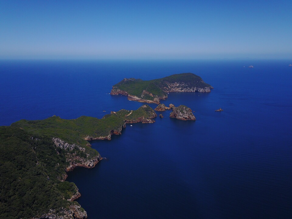 Looking south over Tawhiti Rahi and towards Aorangi, the Poor Knights Islands are a nature and marine reserve.