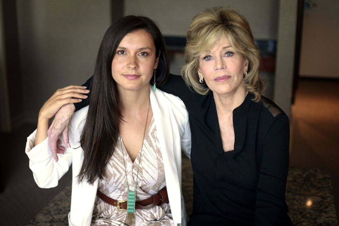 Fighting Climate Change with Jane Fonda - In 2015, Melina spoke to the Toronto Star about how a 3-million-litre oil spill in her community drove her to fight climate change and build clean energy.Read the article >>