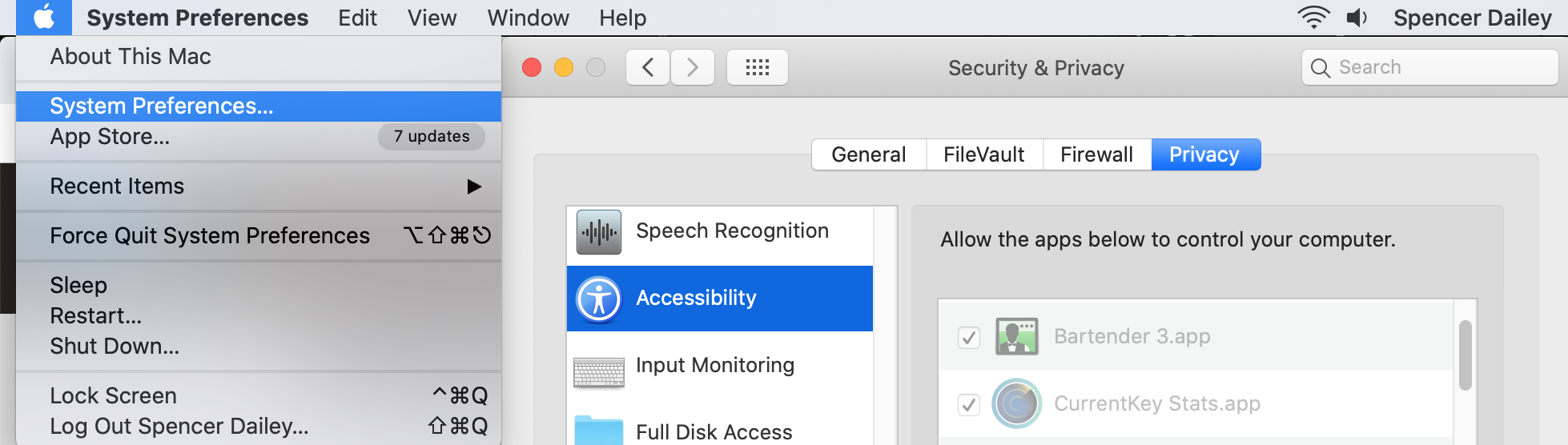 This will allow Room hotkeys to be enabled on your Mac.