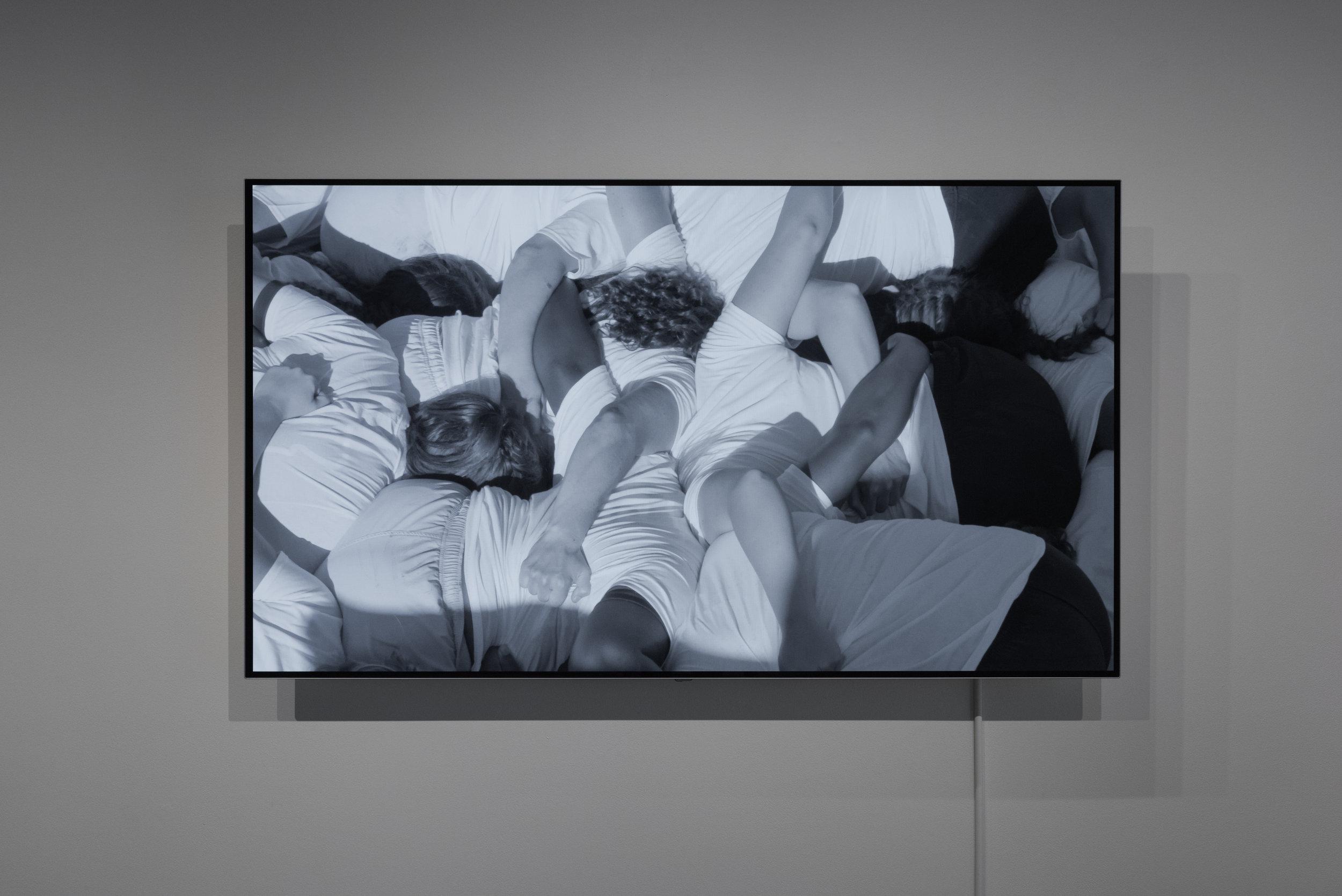 Scrum,  2017  video, 65 in. screen  edition 1/5, 2 APs