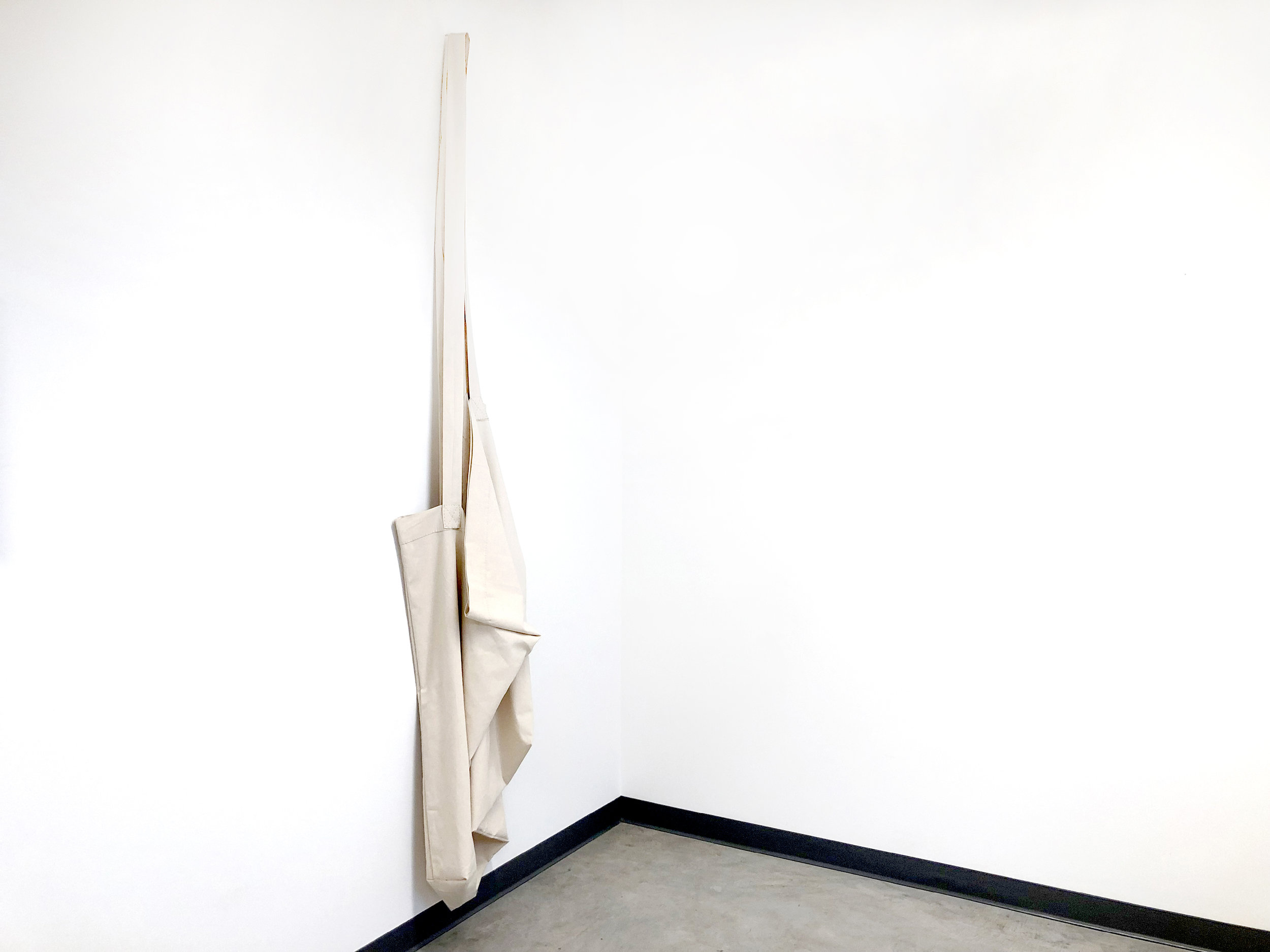 "Jovencio de la Paz,  tall , 2019. Cotton, 102"" x 18"""