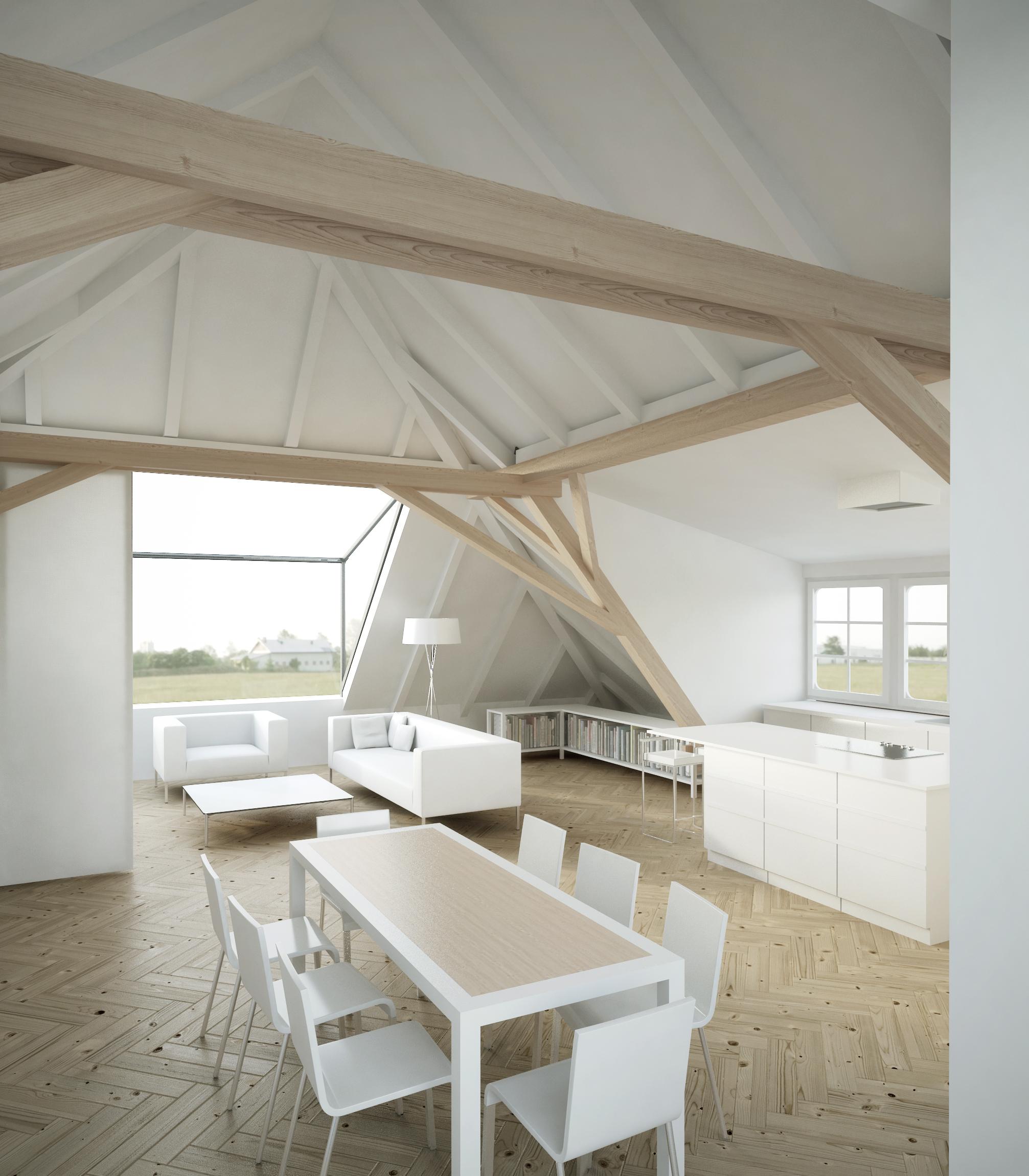 Dachbodenausbau, Frühstücksterrasse