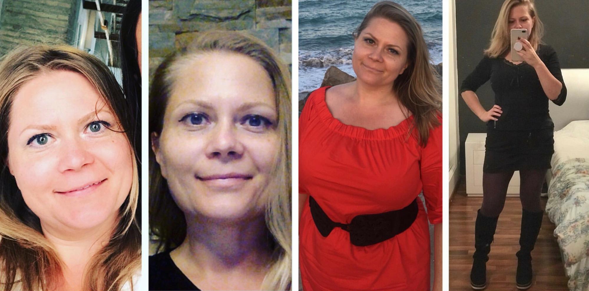 - En estas fotos salgo yo. La diferencia es: 4 meses, 15 kilos y una transformación a todos los niveles.