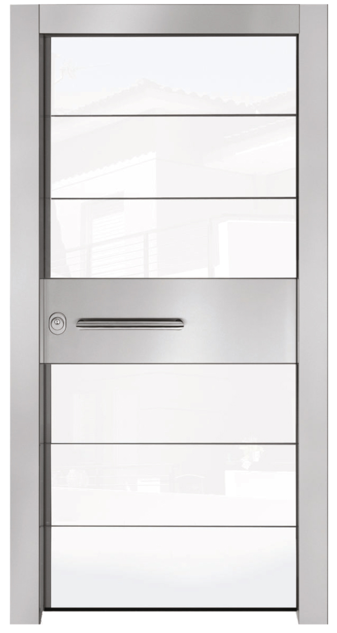 TEKNA with White Colour Glass and Aluminium