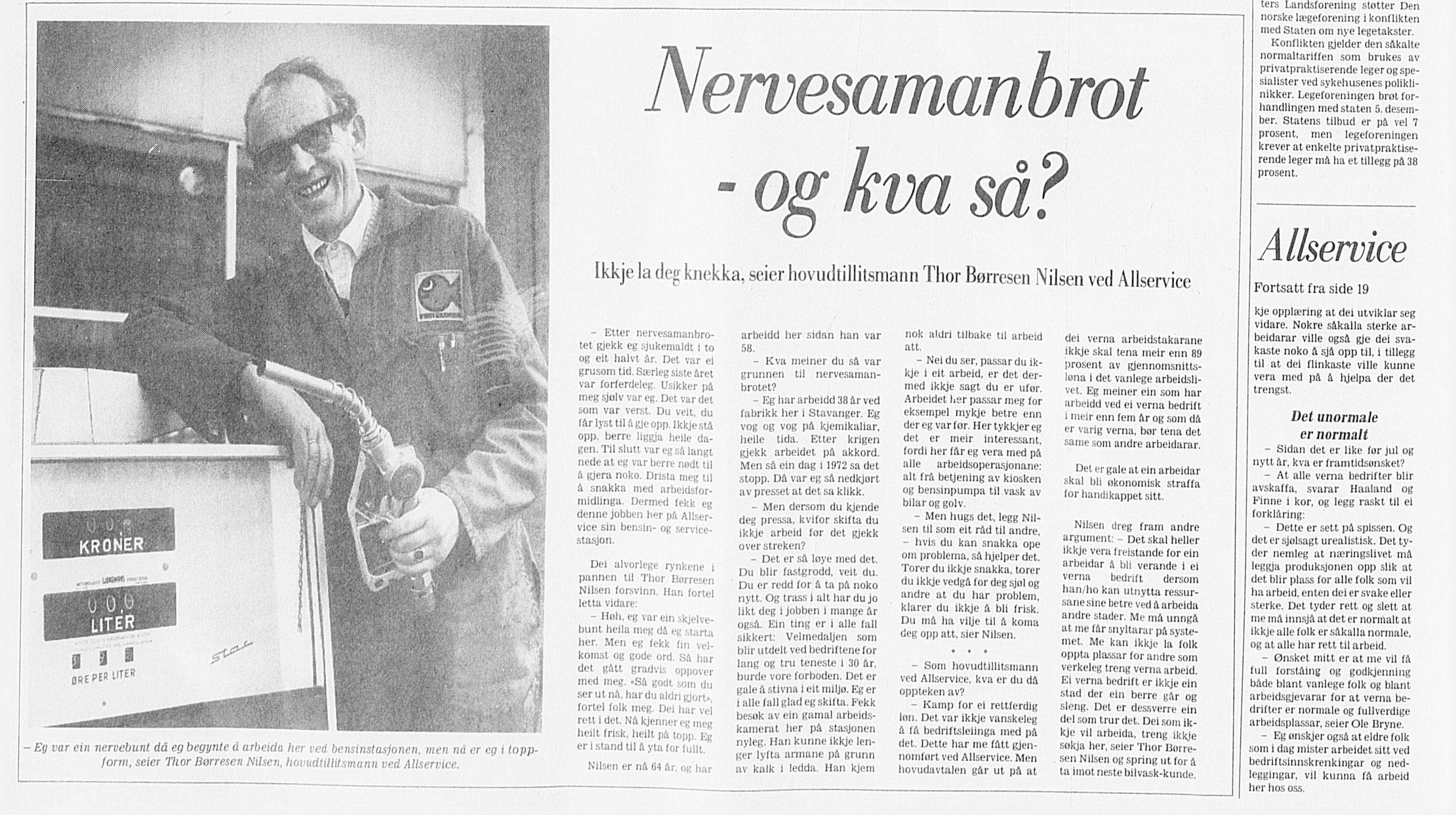 Fra Stavanger Aftenblad 20.12–1980