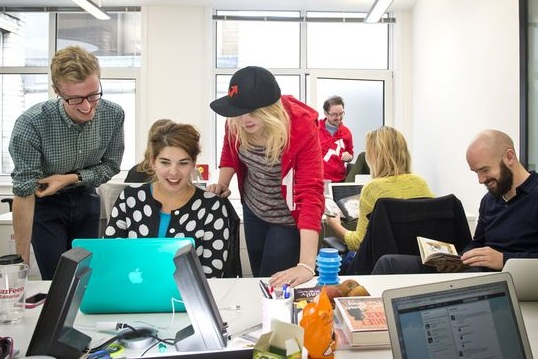 at the buzzfeed uk office in 2013.