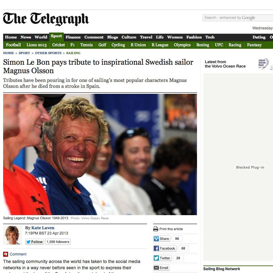 Simon Le Bon pays tribute to inspirational Swedish sailor Magnus Olsson - Telegraph (20130619).jpg