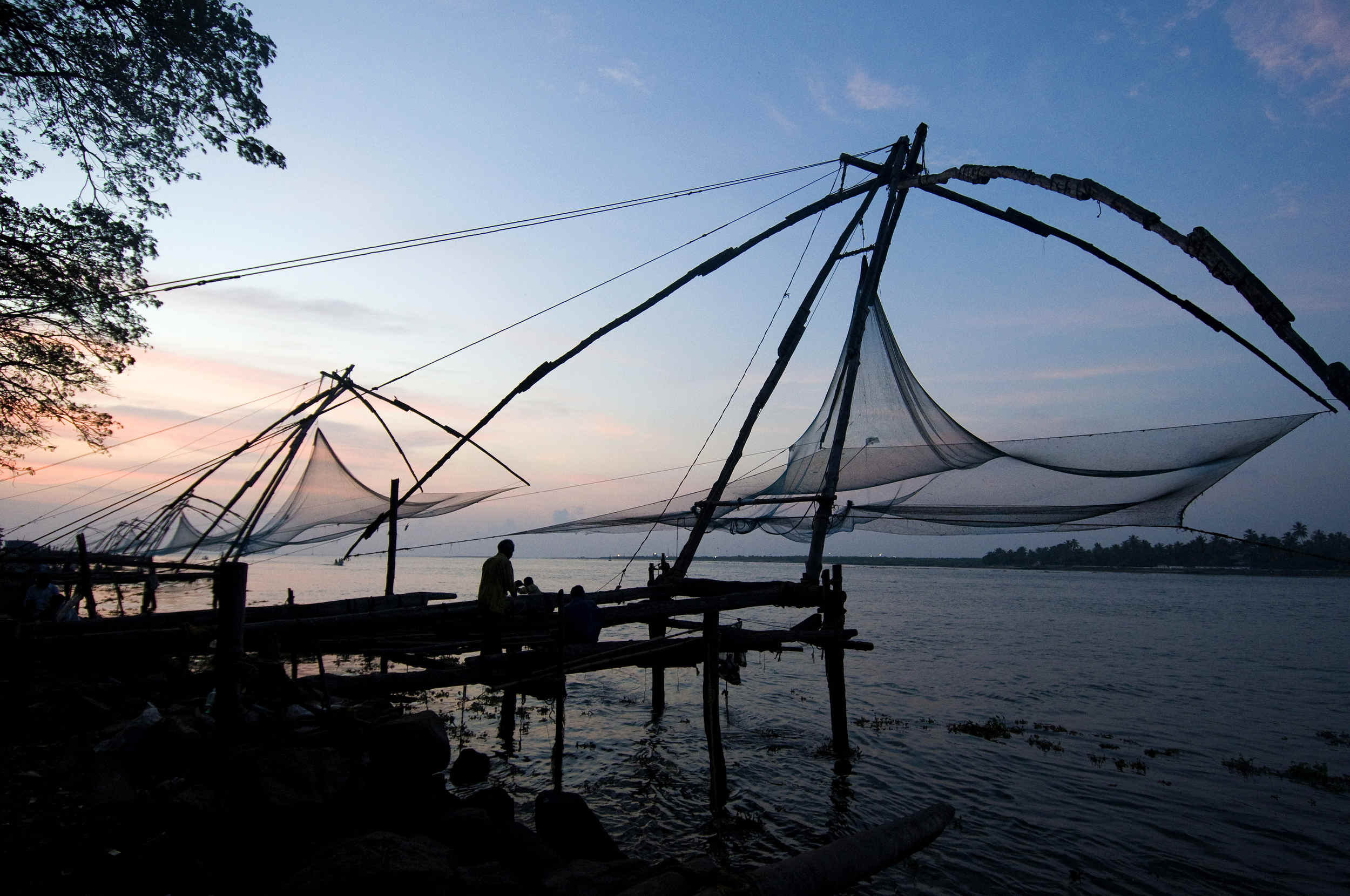 Fishing nets, Cochin, India