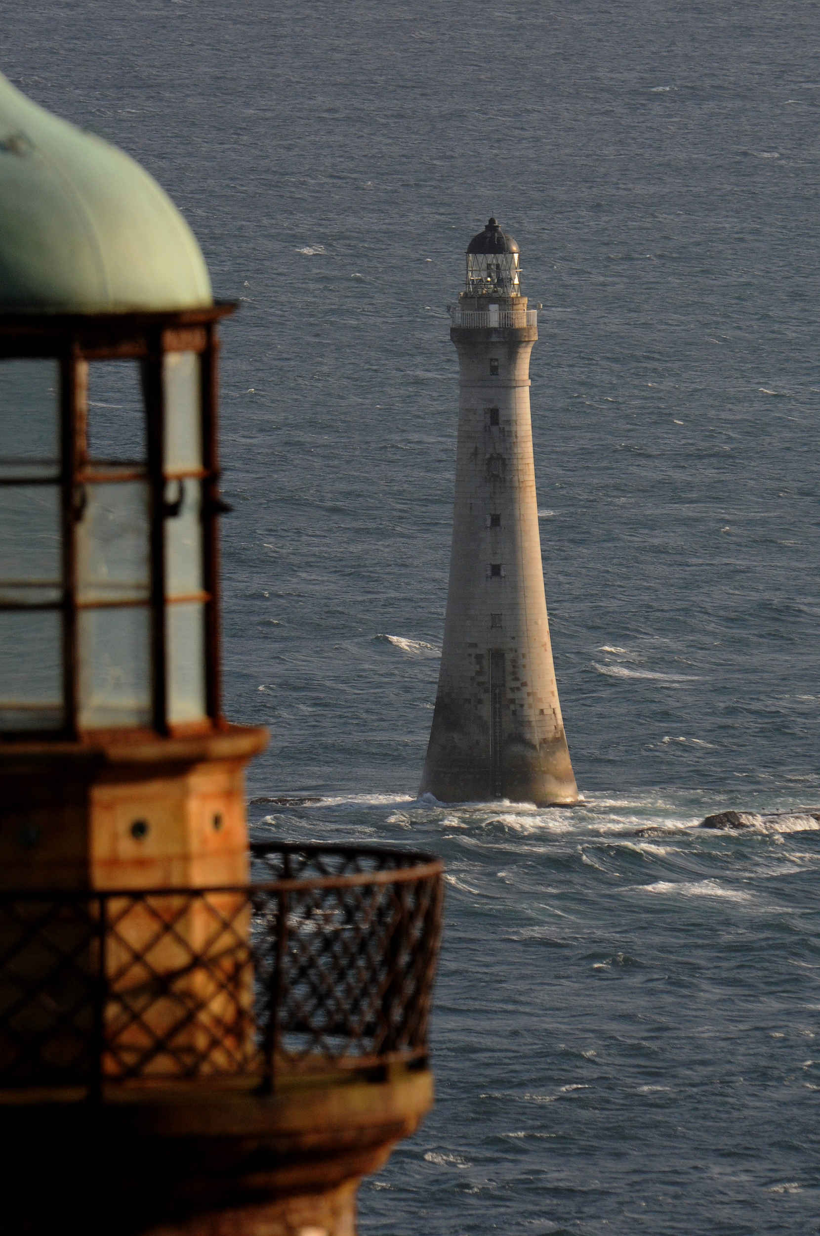 One of the Stevenson Lighthouses on the Calf of Man and Chicken Rock lighthouse