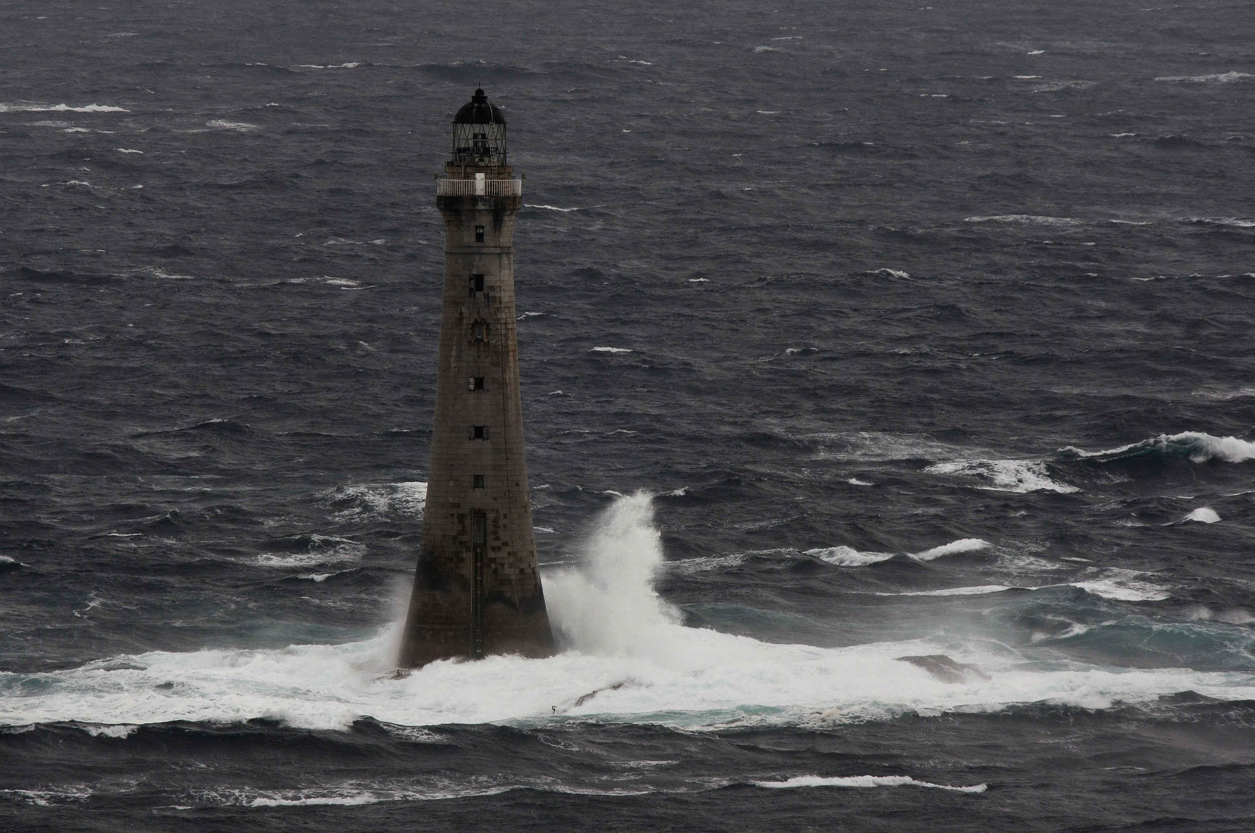 Chickens Rock lighthouse as seen from the Calf of Man