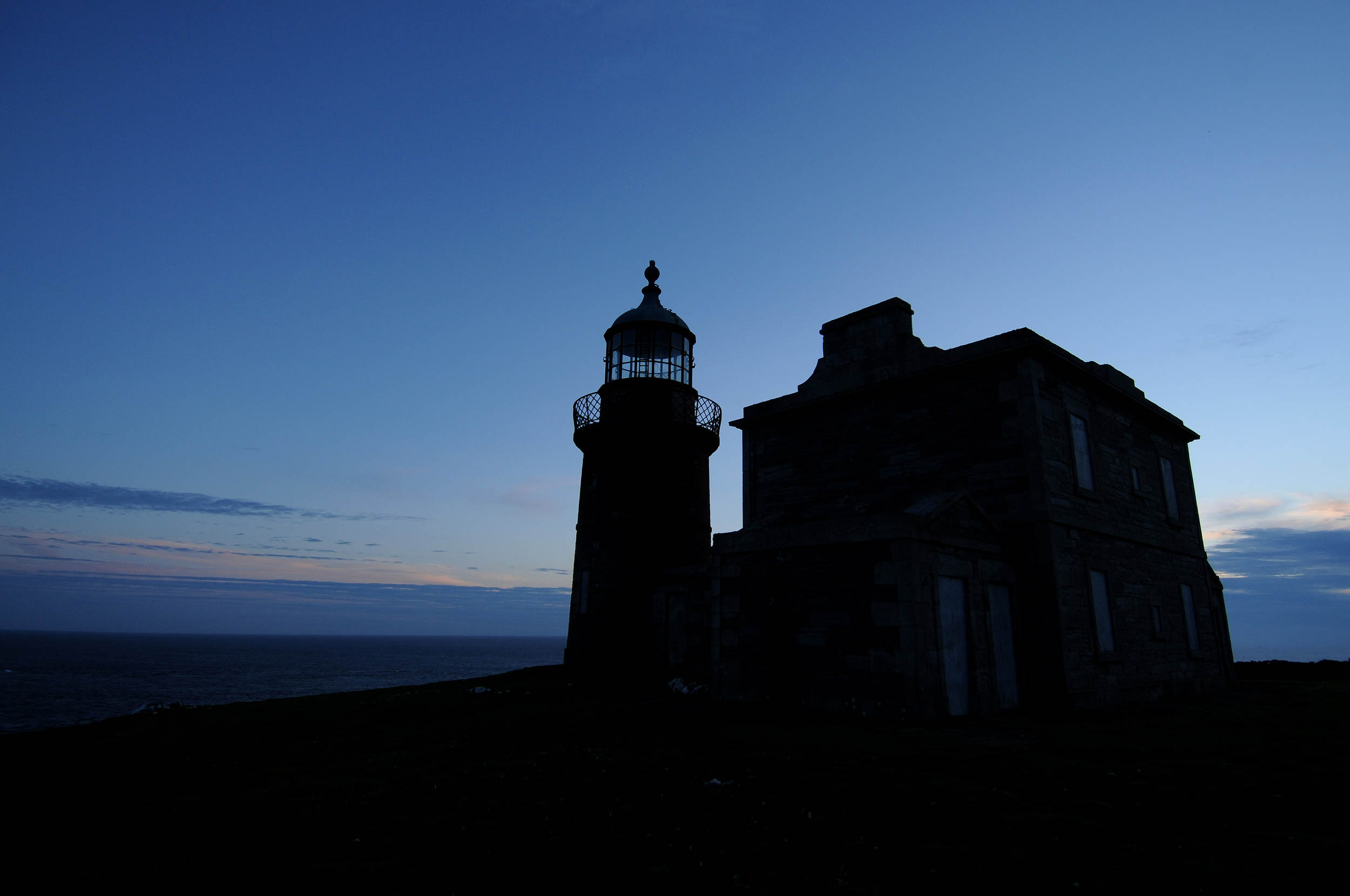 One of the Stevenson Lighthouses on the Calf of Man