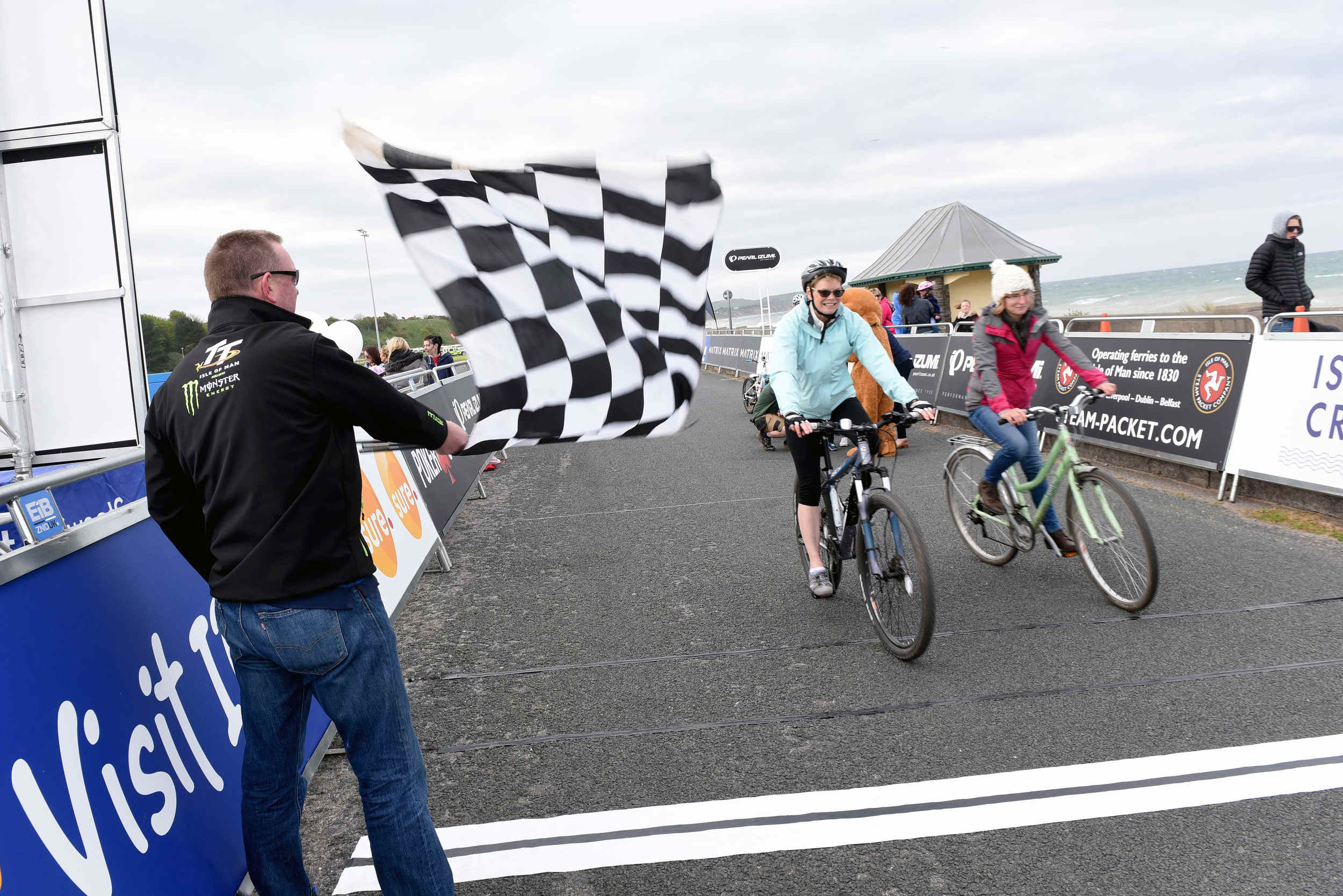 Day Two of Isle of Man Cyclefest 2016 on Friday, May 13. Based around Mooragh Promenade in Ramsey, included a fundraising fun family ride around the racecourse raising money for Rebecca House