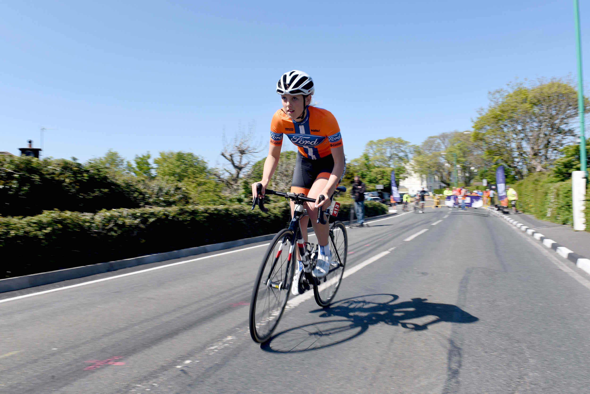 Saturday of Isle of Man Cyclefest 2016, based at Milntown in Ramsey - the Storm the Tower hill climb time trial from Ramsey to the Gooseneck
