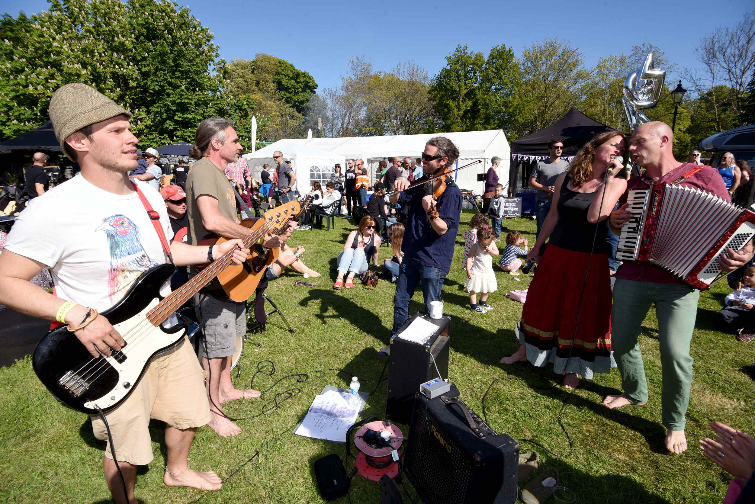 The Milntown festival, part of Cyclefest 2016