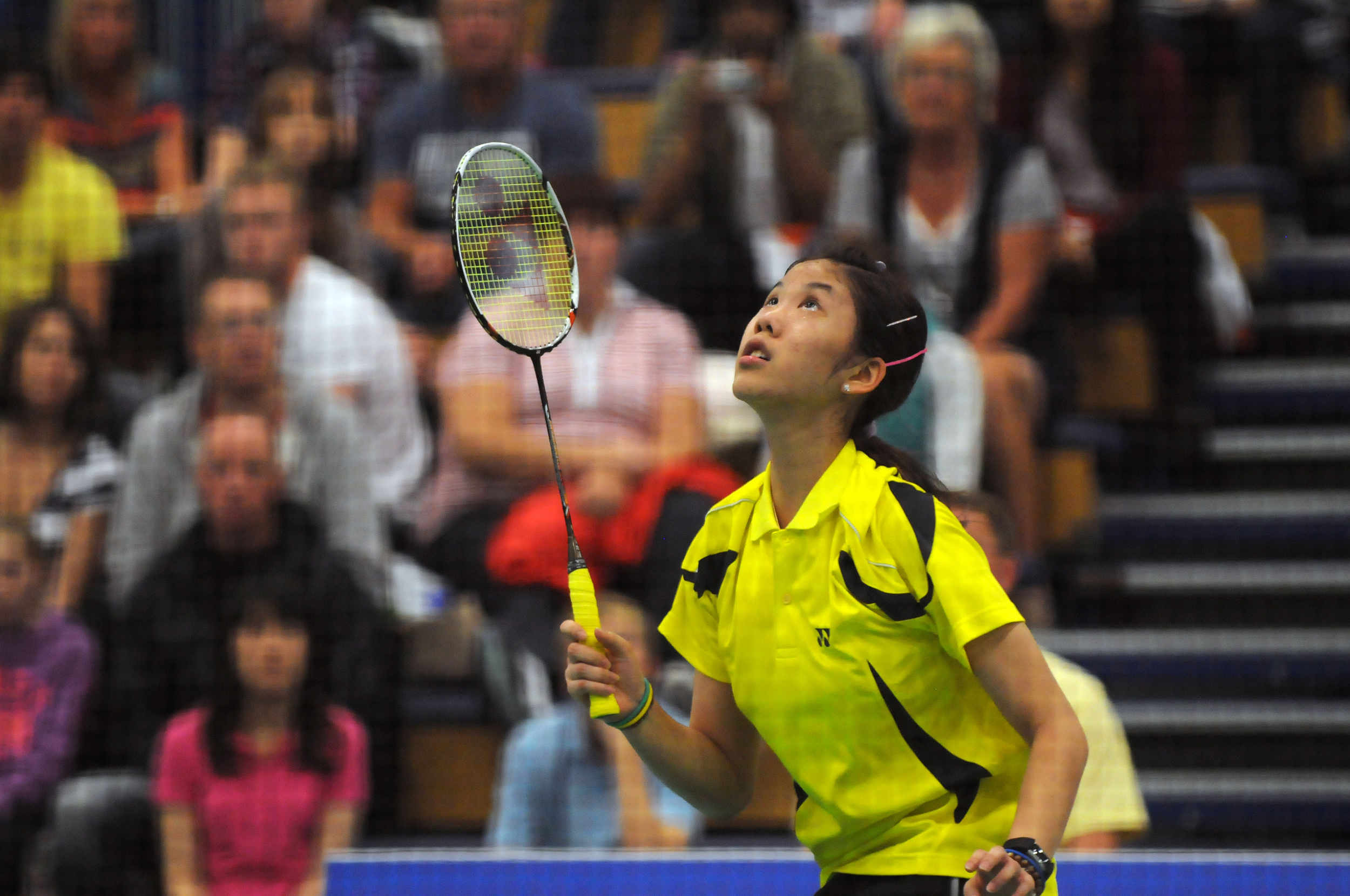 Sonia Cheah representing Malaysia wins the silver medal in the Women's Singles Badminton at the 2011 Commonwealth Youth Games