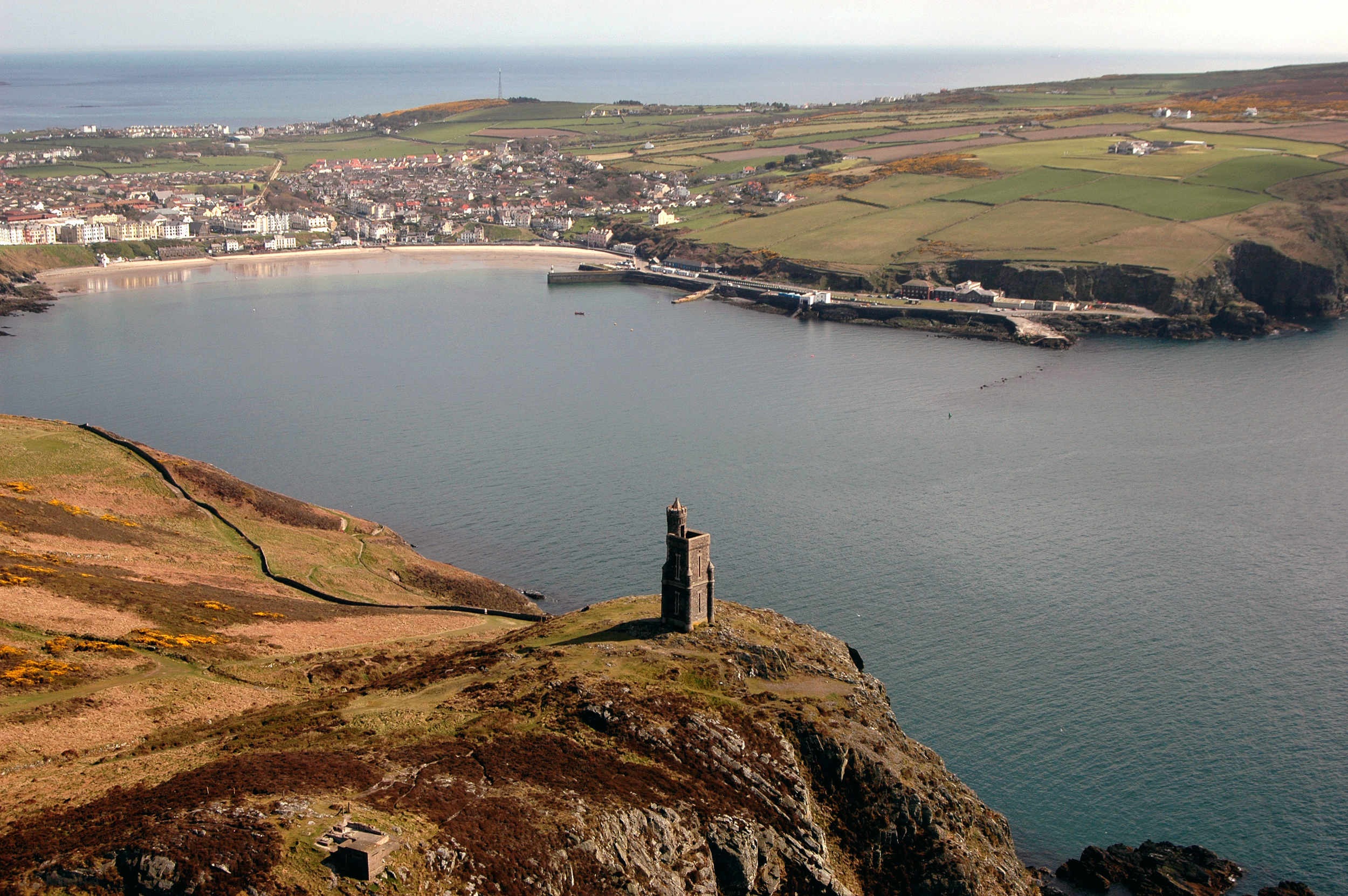 Bradda Head, Milner's Tower and Port Erin
