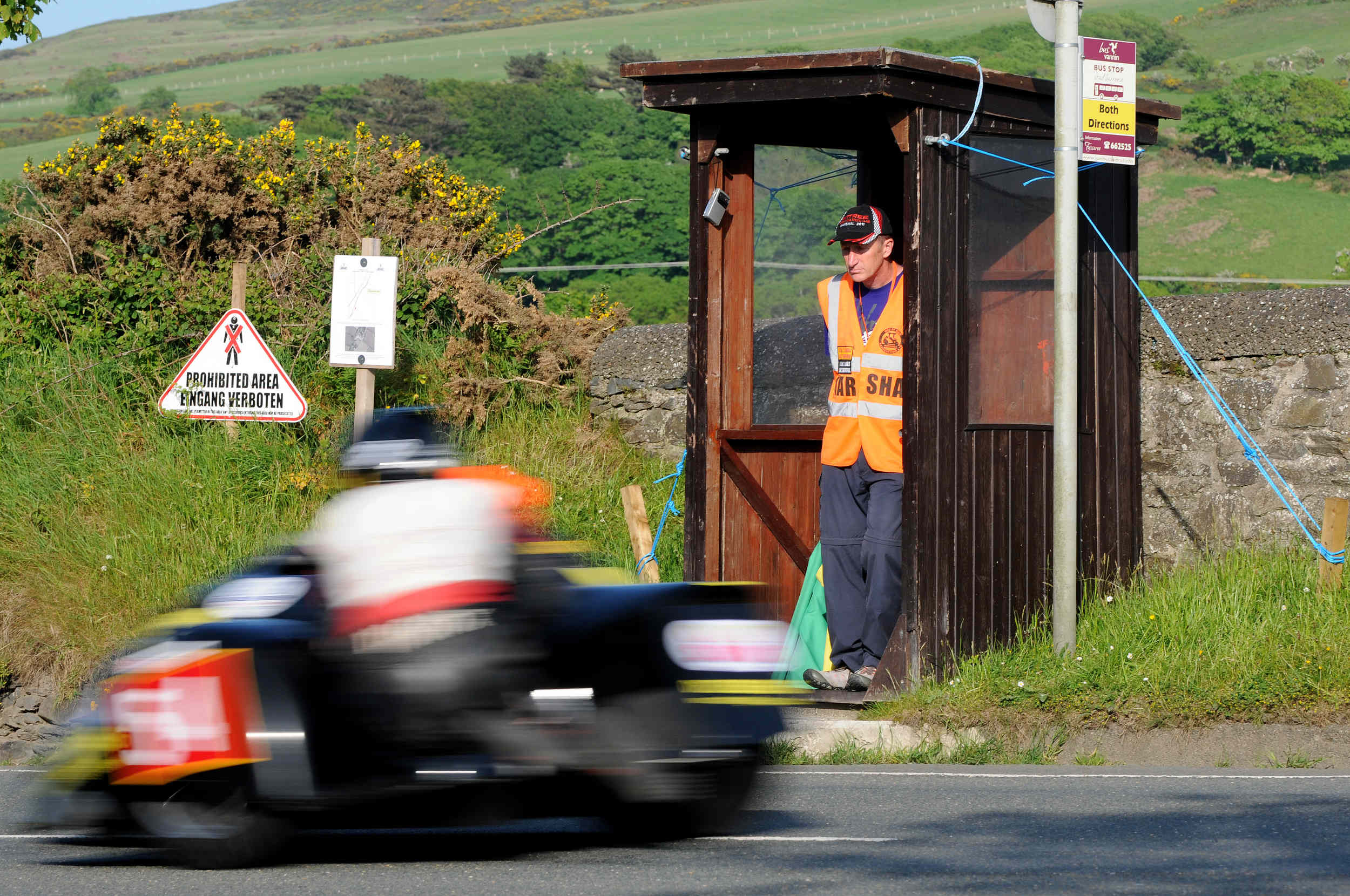 Sidecar qualifying at Rhencullen, TT 2012