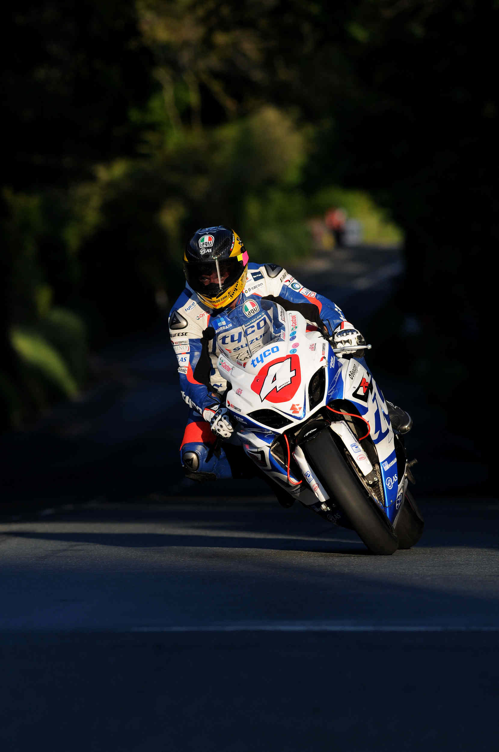 Evening qualifying at Ballacraine, TT 2012 - Guy Martin