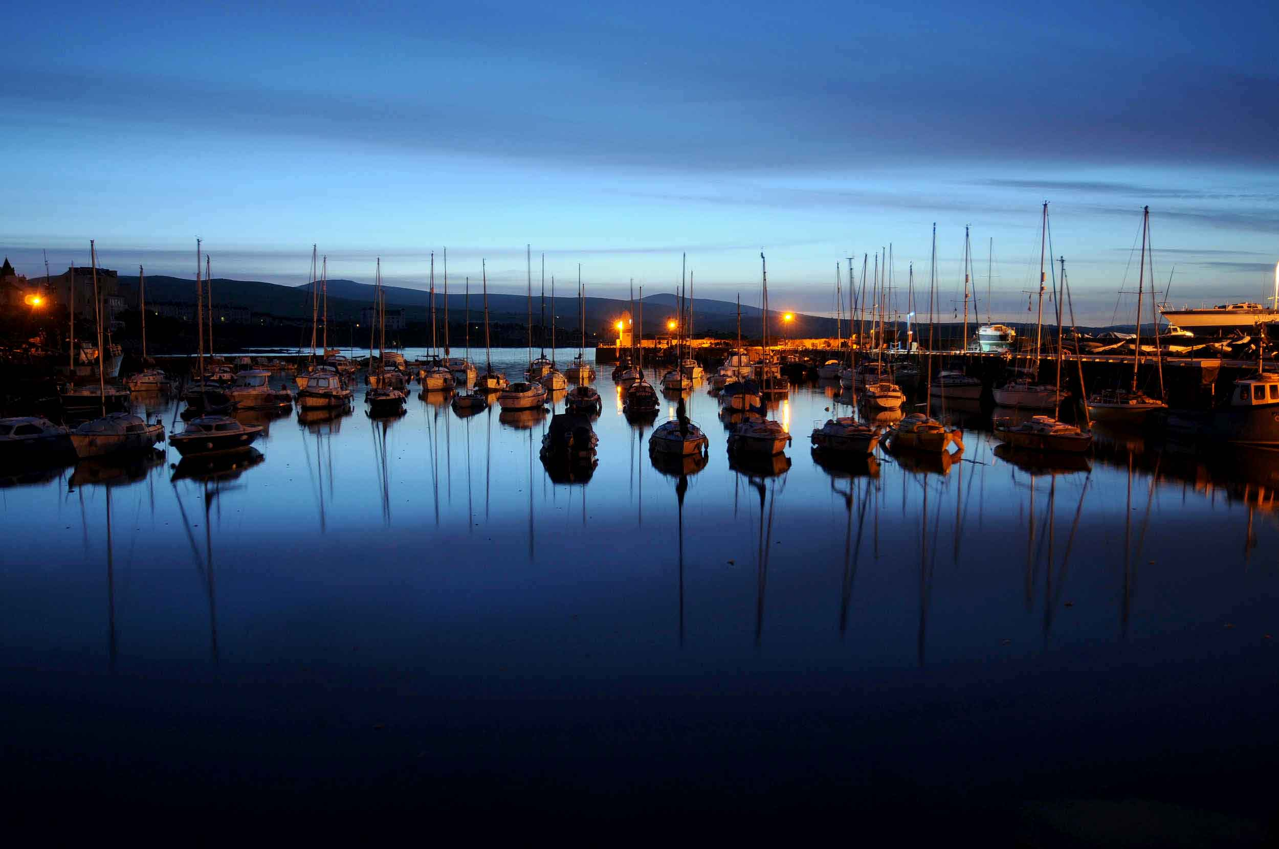 First light at Port St Mary's inner harbour.