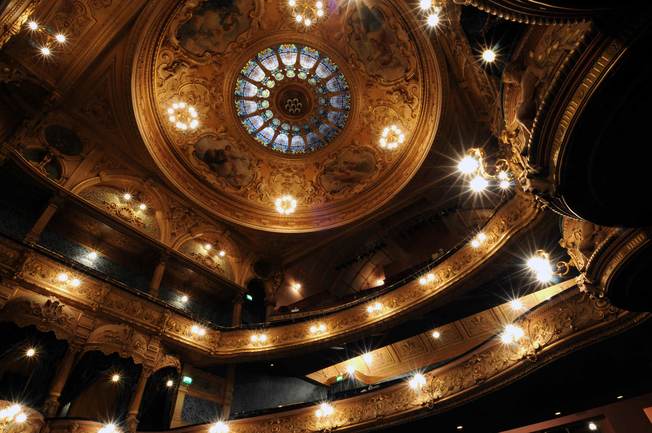 The interior of the restored Gaiety Theatre, designed by Frank Matcham and built in 1899