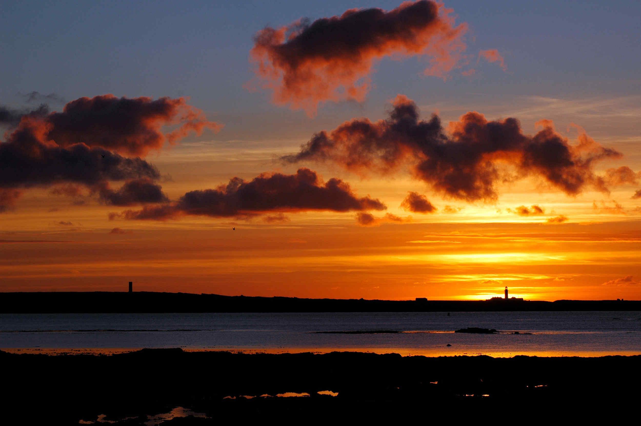 Sunrise over Langness lighthouse
