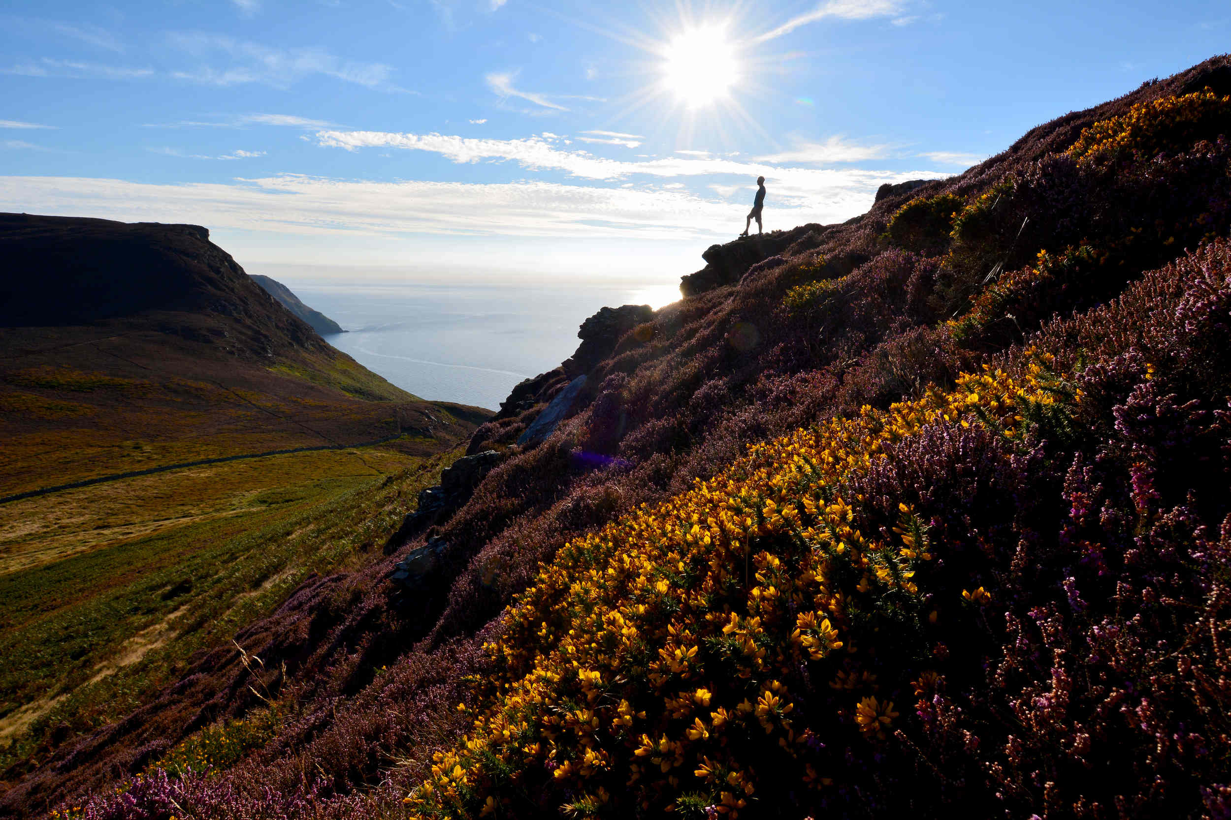 A lone walker in the Sloc valley
