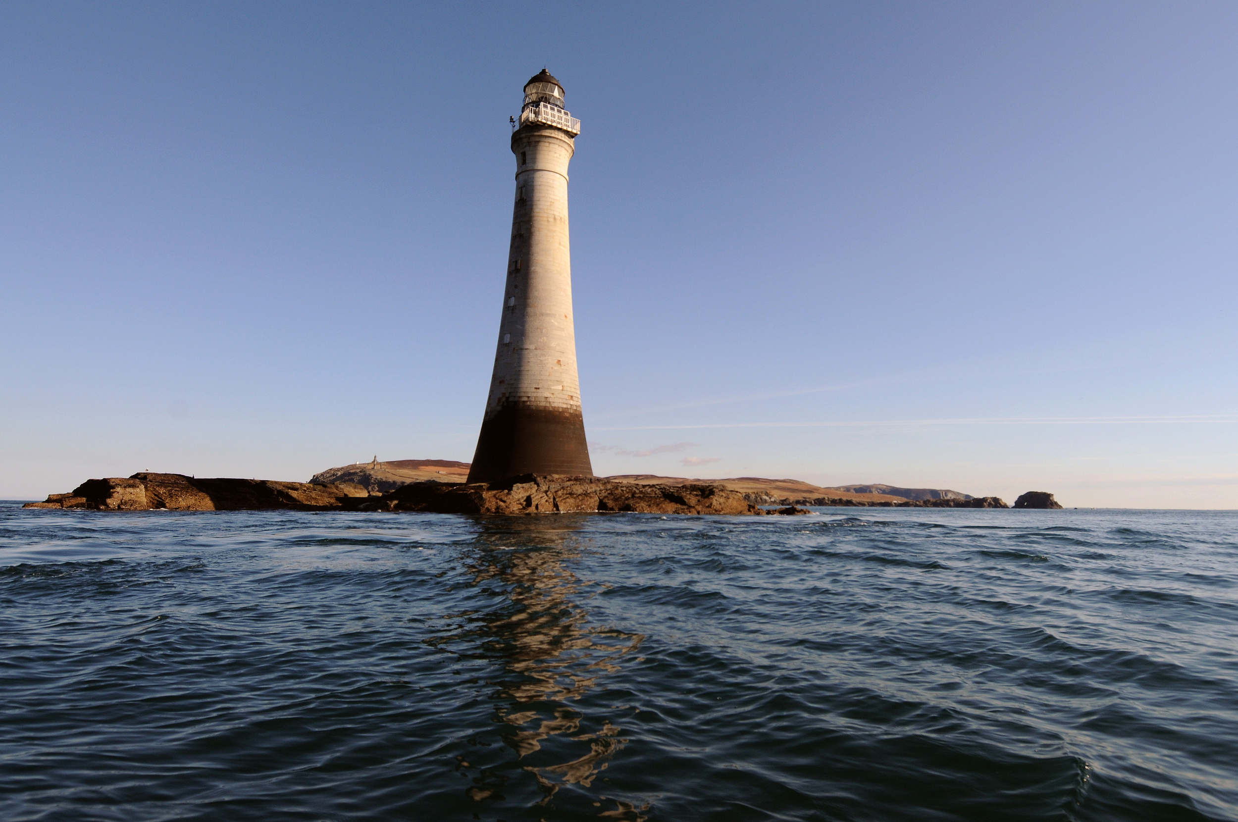 Chickens Rock Lighthouse and the Calf of Man