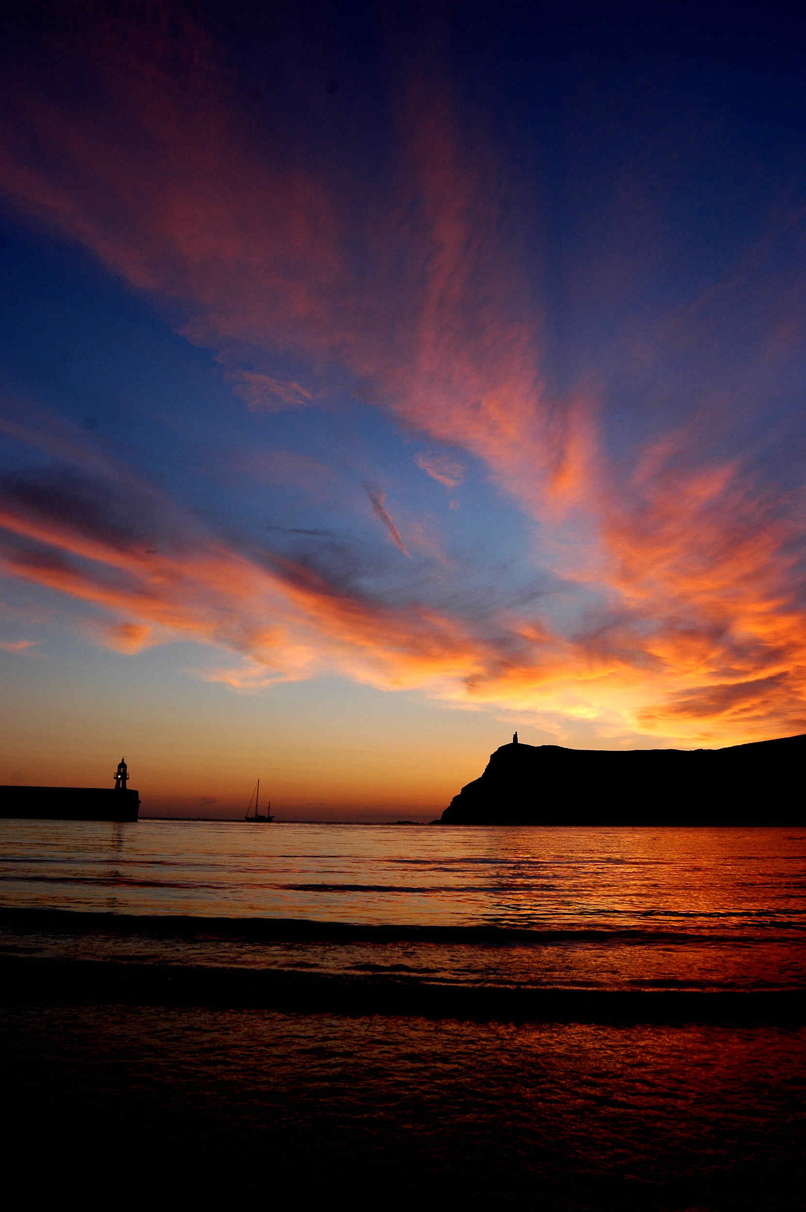 Sunset from the beach at Port Erin