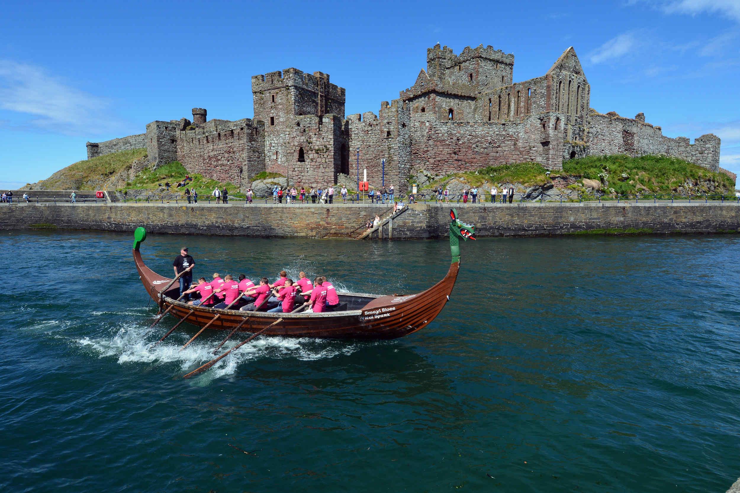 Viking Longboat Races in Peel