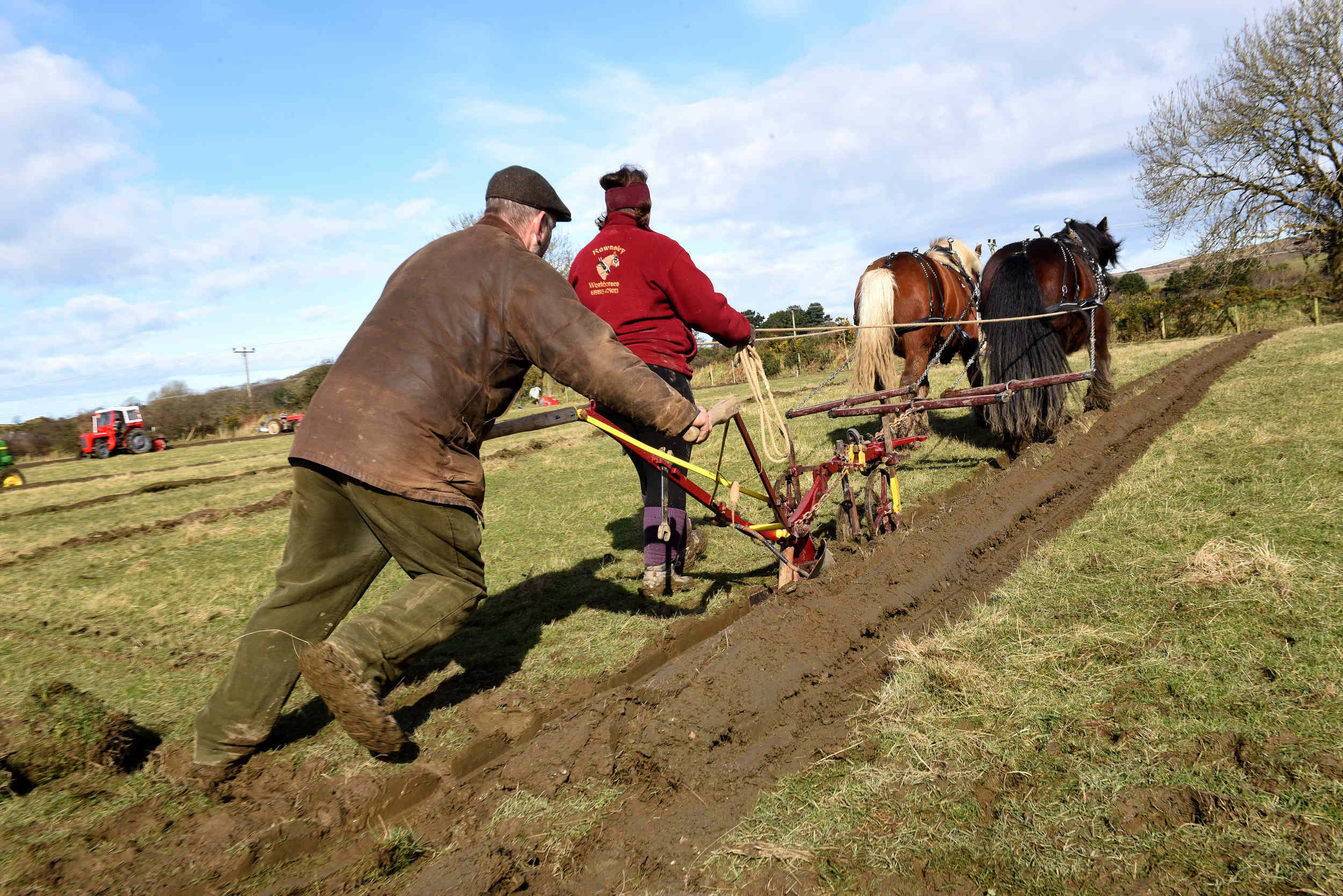 The Cronk y Voddy Horse Ploughing match
