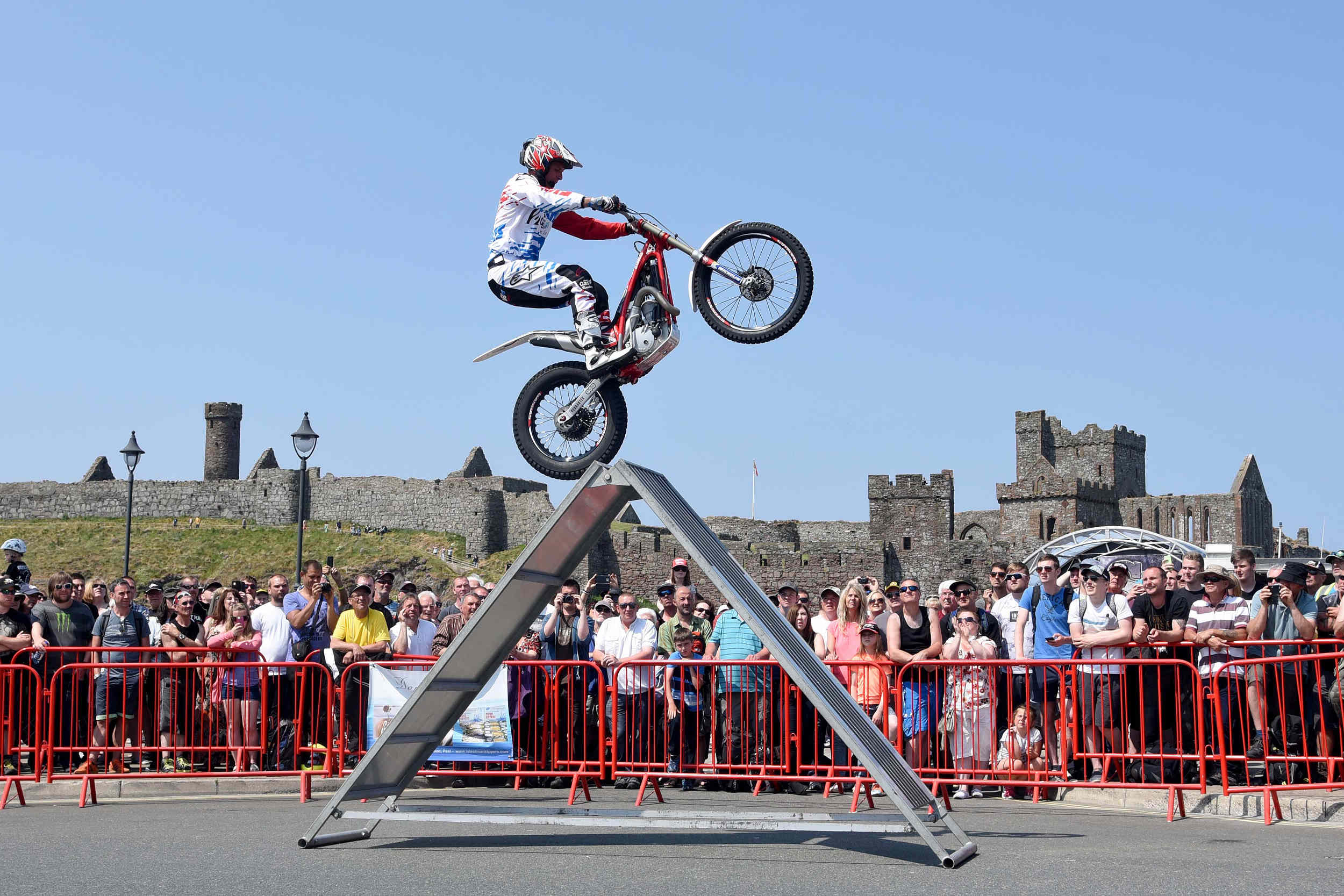 Steve Colley's stunt show at Peel TT Day