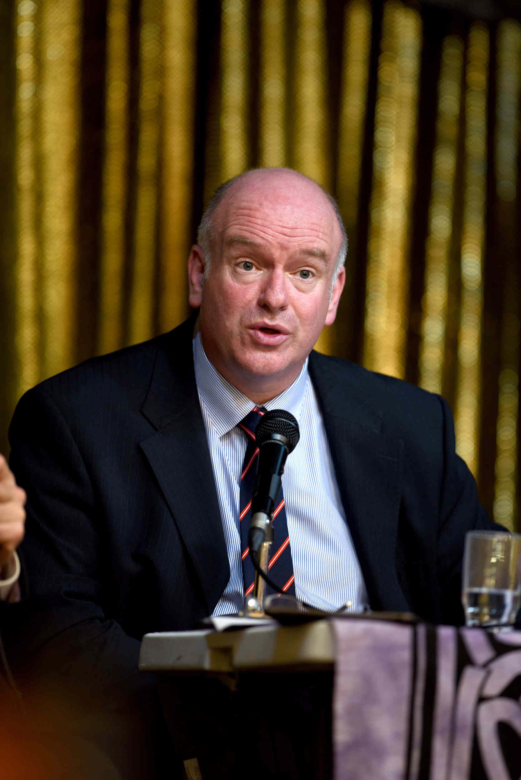 Howard Quayle MHK, one of three candidates for the position of Chief Minister following the 2016 Isle of Man General Election, takes part in a public hustings