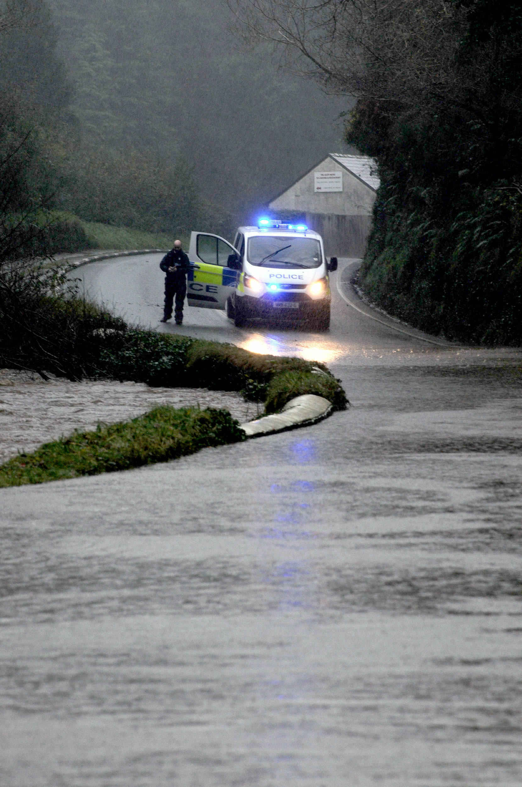 Flooding at Glen Helen after heavy rainfall