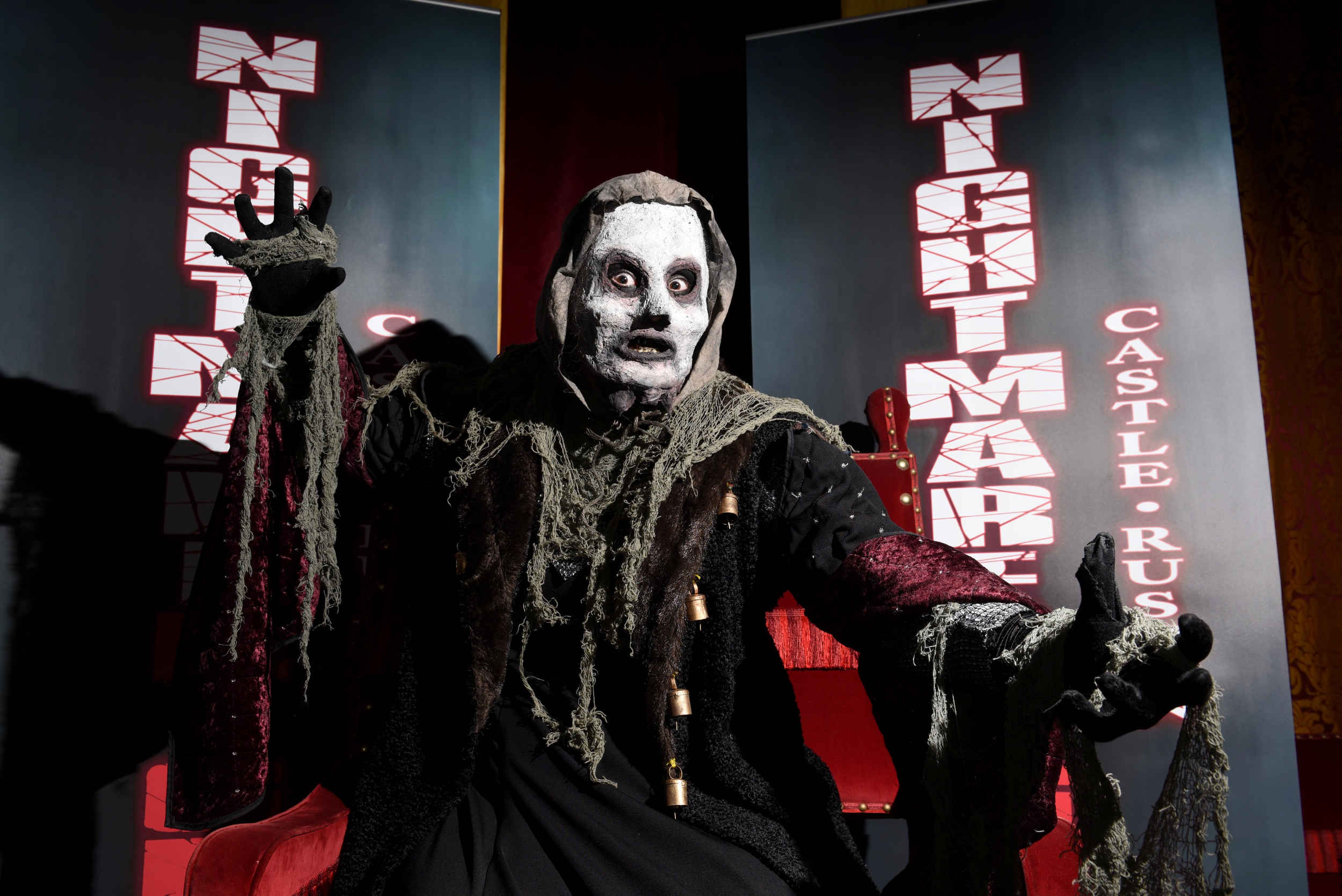 Publicity image for the first 'Nightmare Nights' scare attraction inside Castle Rushen