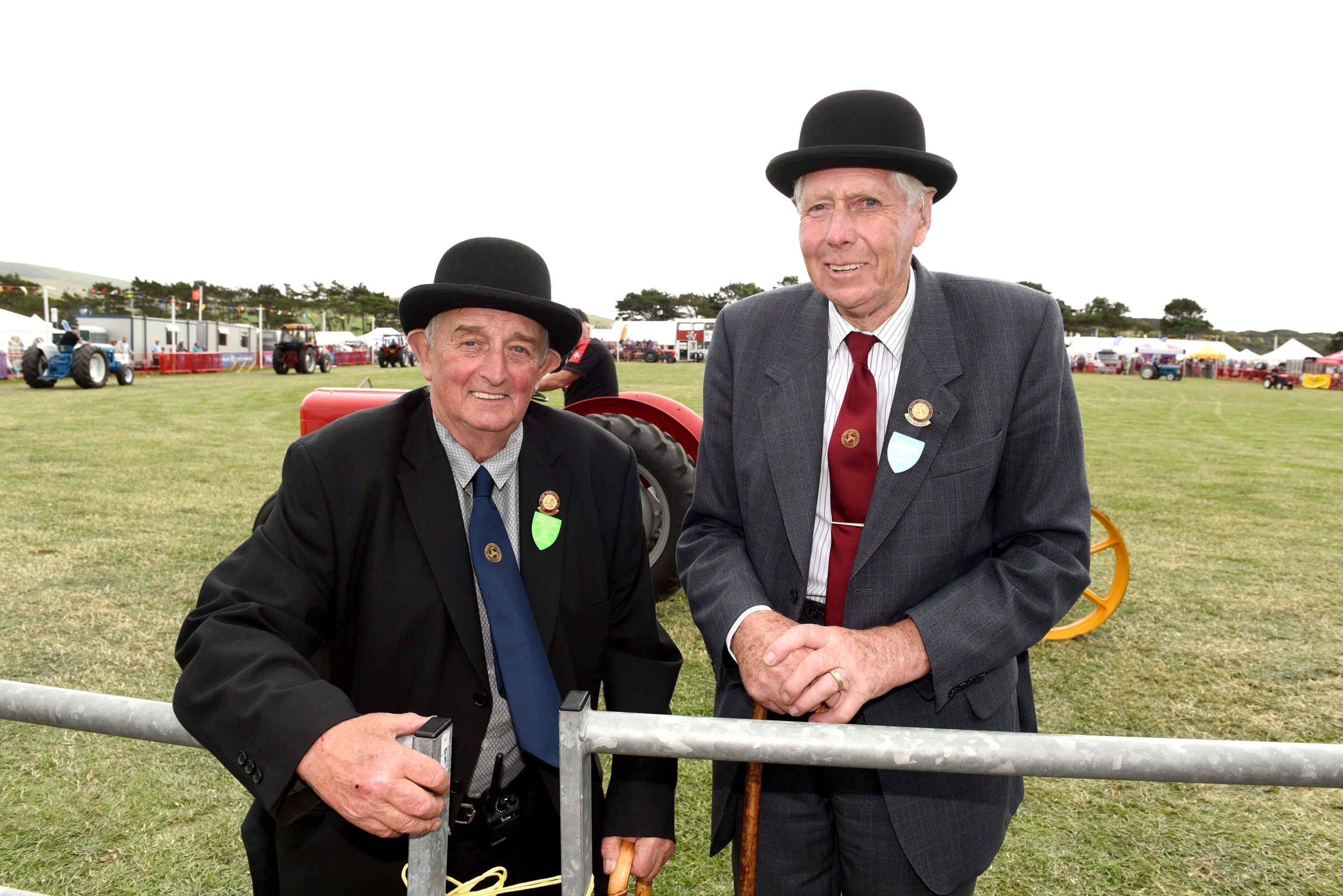 The Royal Manx Agricultural Society's Peter Dale and Norman Kelly at the 2018 Royal Manx Agricultural Show at Knockaloe